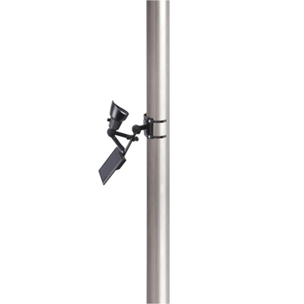 moonrays solar powered 50 lumen black outdoor integrated led adjustable flagpole spot light