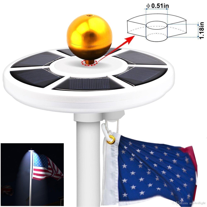 high bright 26 leds solar powered flag pole light 3w solar outdoor garden umbrella landscape led
