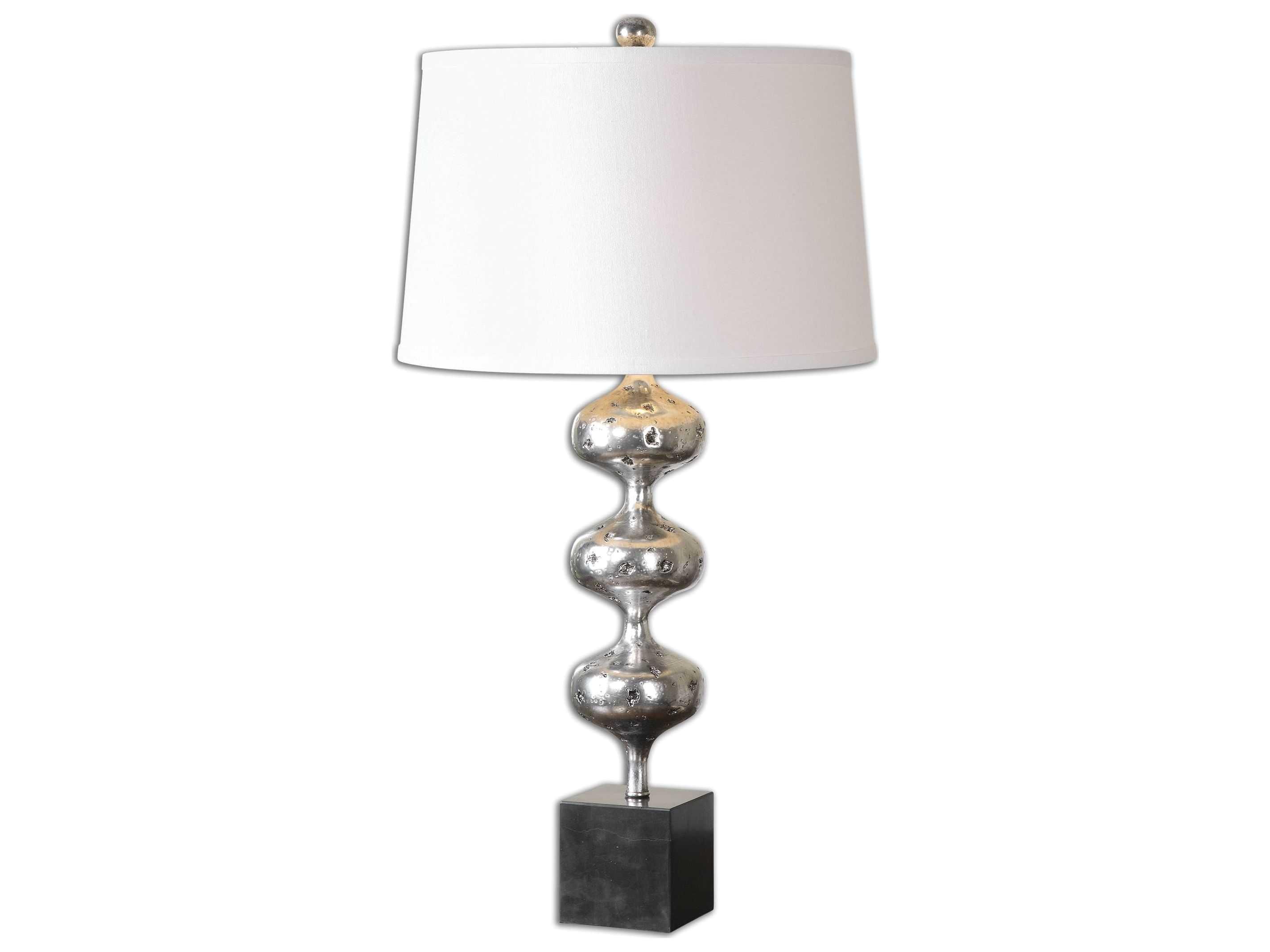 uttermost cloelia polished silver table lamp