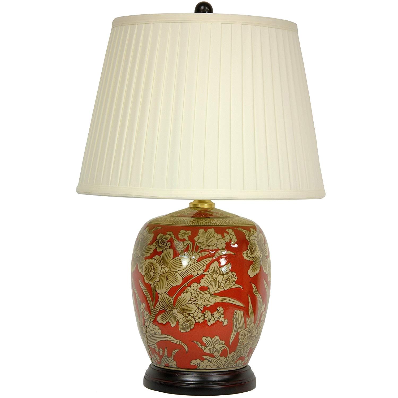 amazon com oriental furniture 21 floral bouquet jar lamp home kitchen