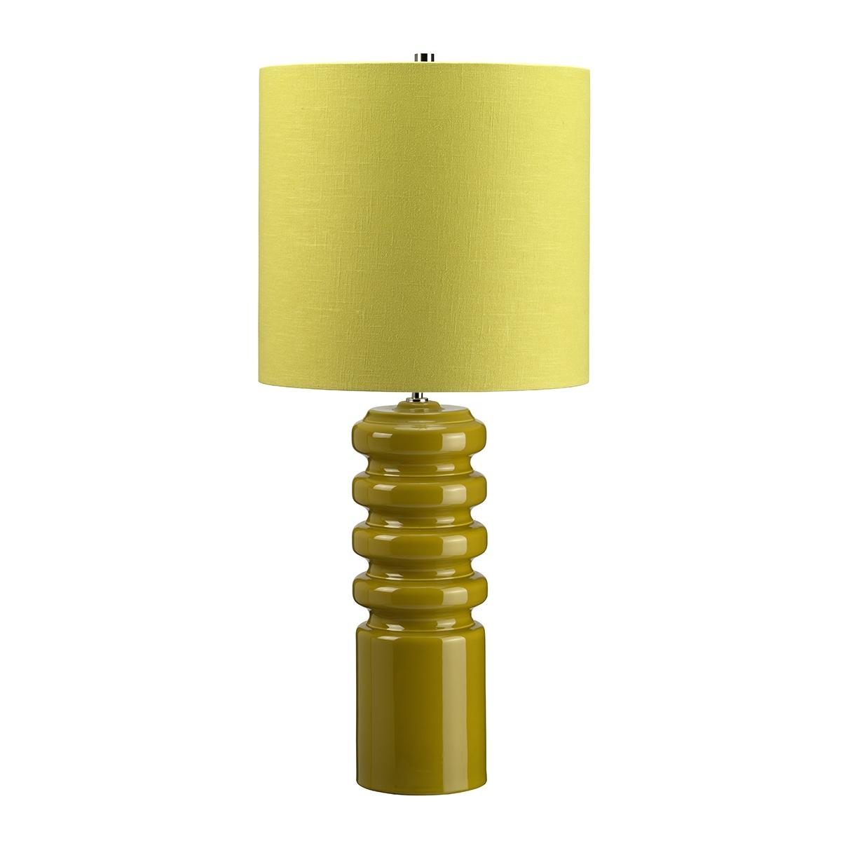 contour lime table lamp