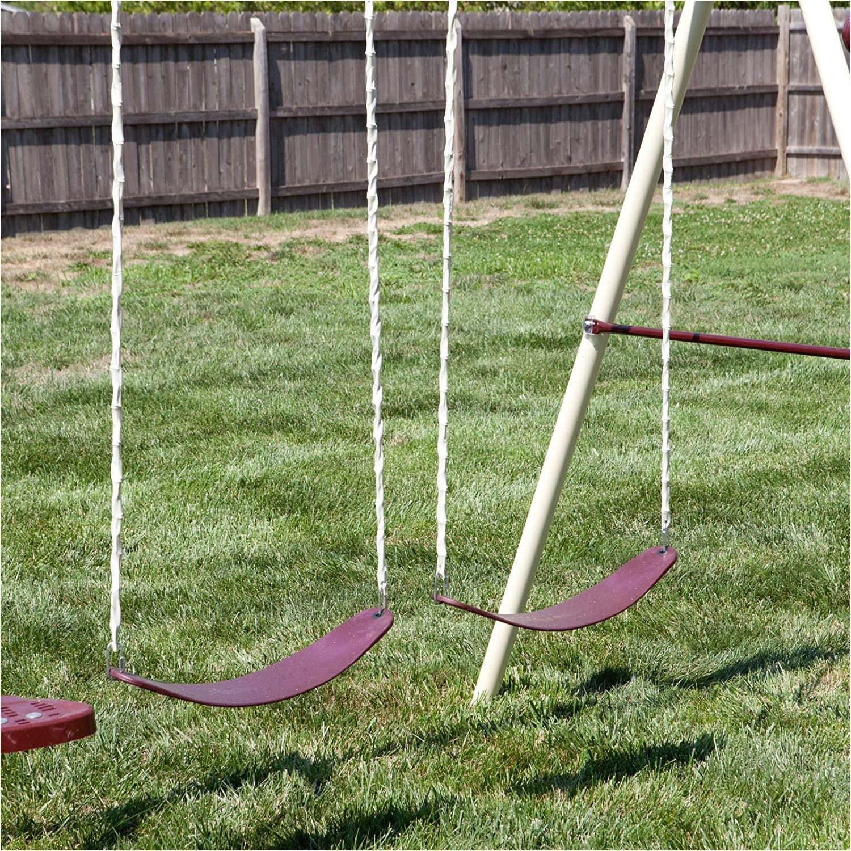 amazon com flexible flyer play park swing set w slide swings air glider lawn swing toys games