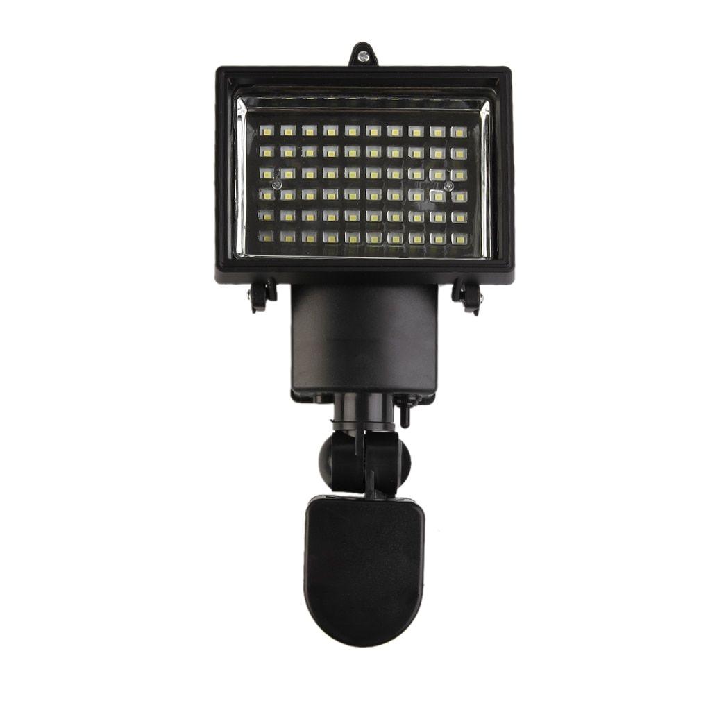 60 led solar light sensor security garden pir motion sensor path wall lamps surveillance