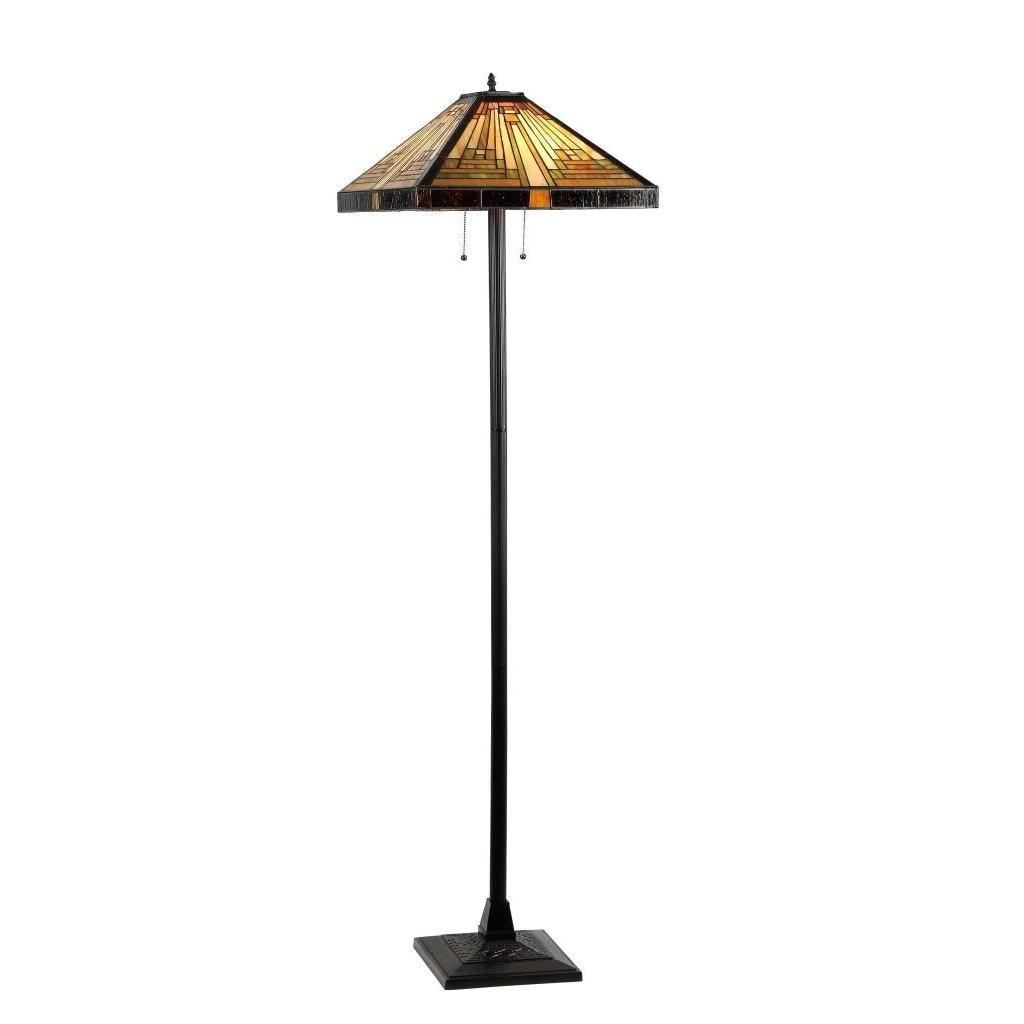 tiffany style mission design 2 light dark antique bronze floor lamp overstock com