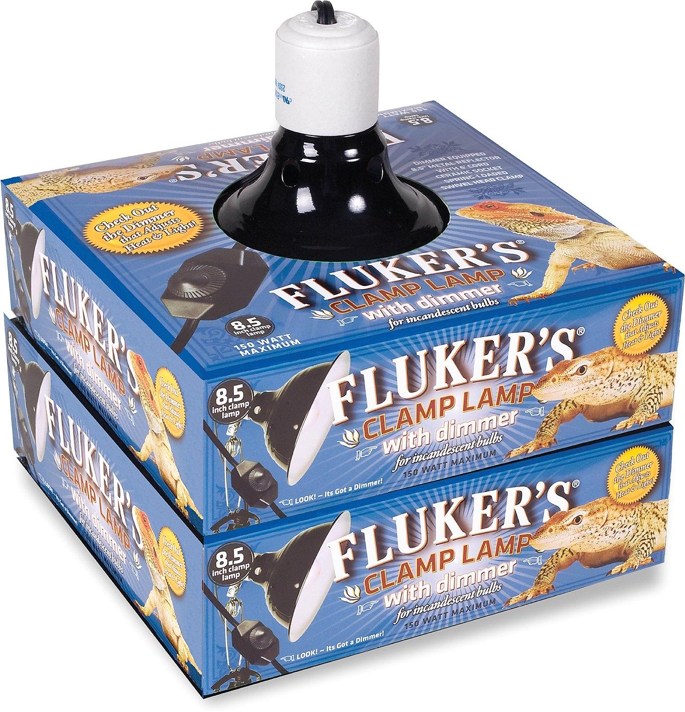 Fluker S Clamp Lamp with Dimmer 8.5-in Flukers Clamp Lamp with Dimmer 8 5 In Chewy Com