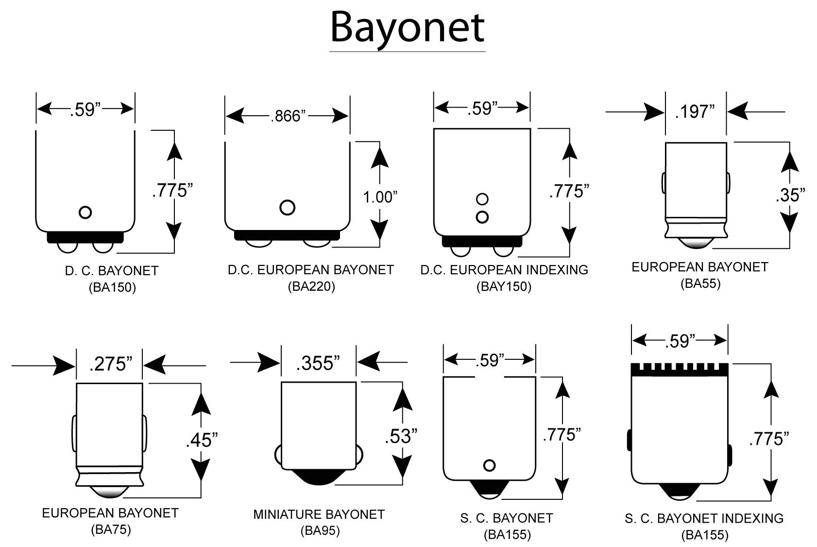 bayonet light bulb bases group