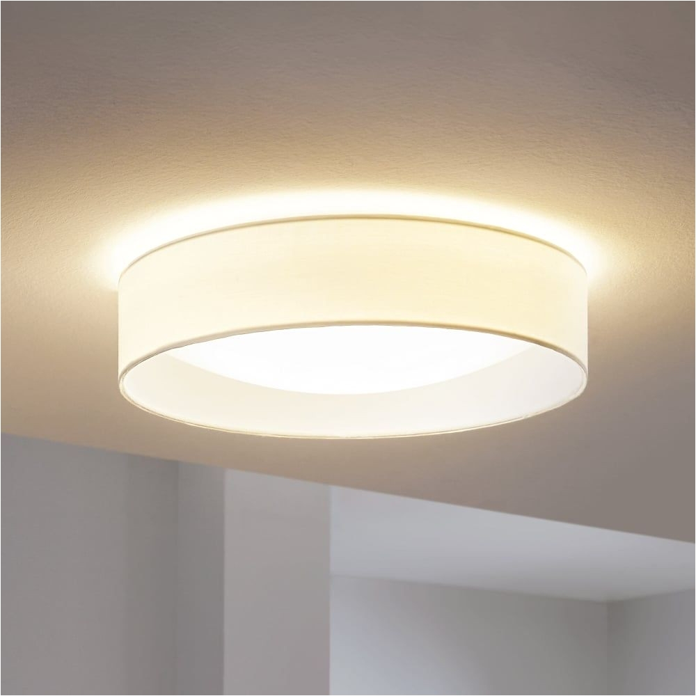 pasteri led white fabric flush ceiling light