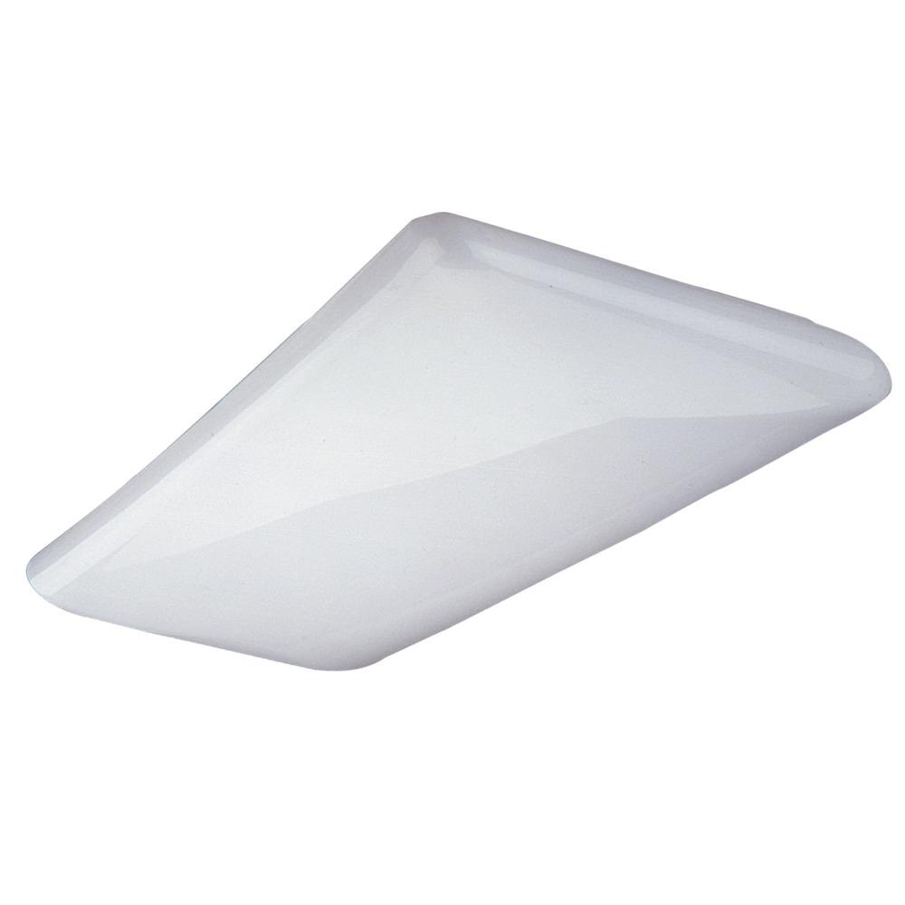 nicor 225 watt equivalent white integrated led designer cloud wraparound