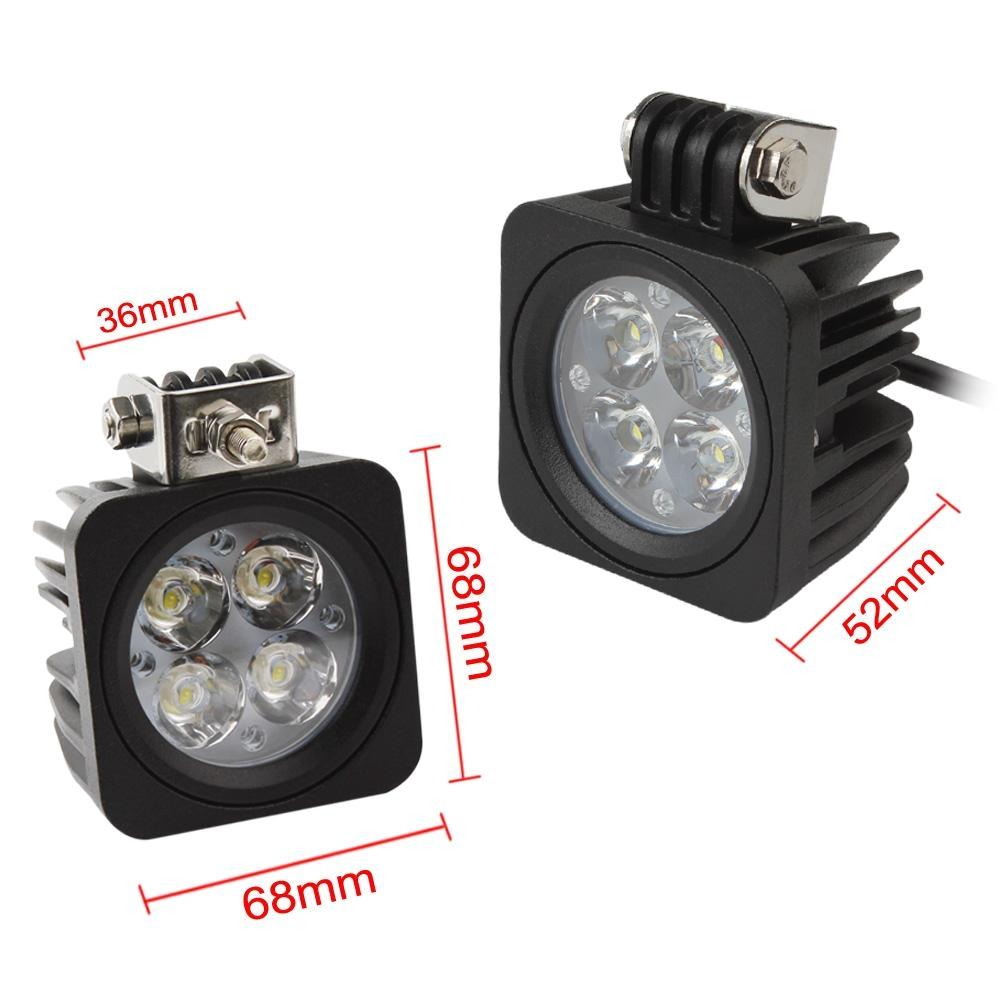 40w car led light offroad work light for atv truck suv driving lamp motorcycle fog light