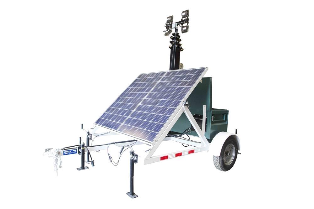 rental 580 watt solar light tower 30 light tower 7 5 trailer 4 60 watt led lamps rental
