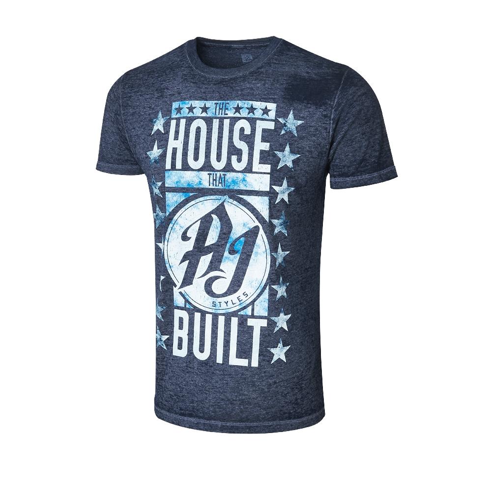 aj styles the house that aj styles built acid wash t shirt