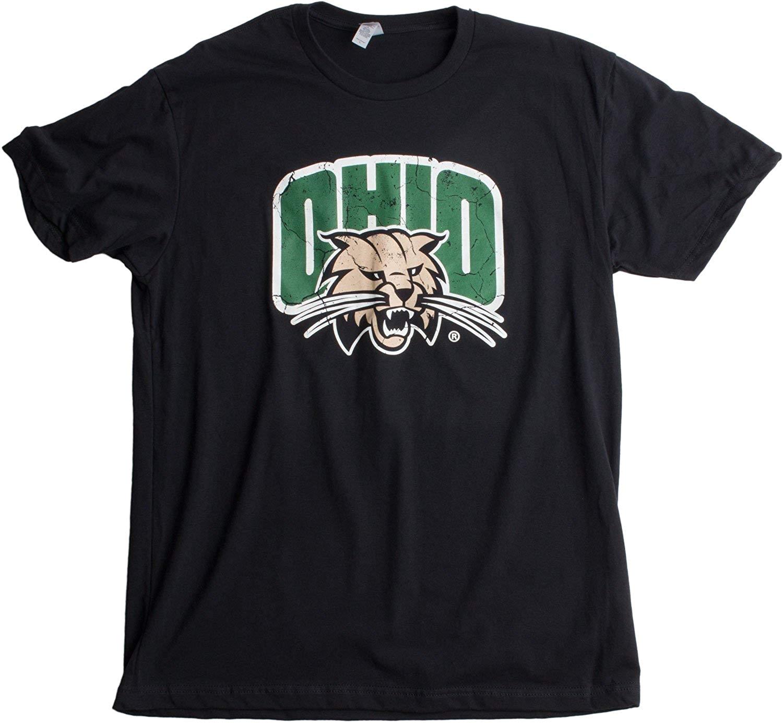 amazon com ohio university ohio bobcats vintage style licensed unisex t shirt clothing
