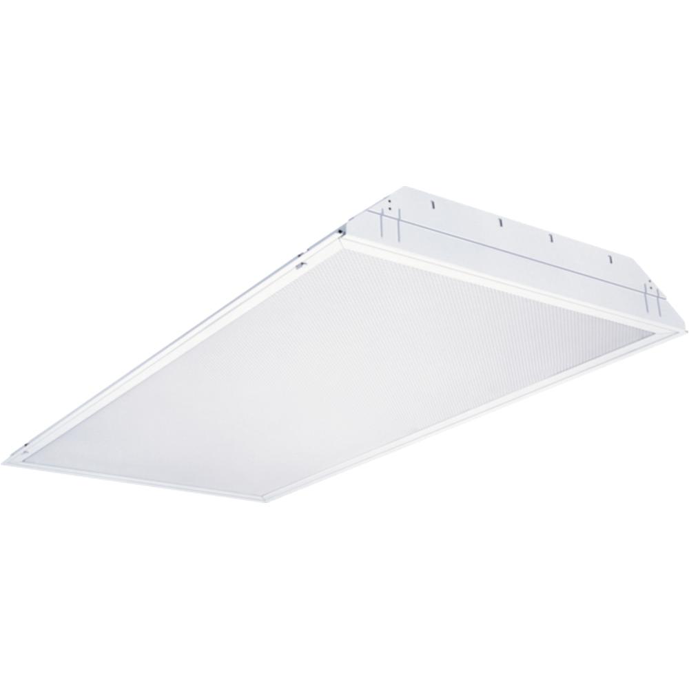 4 light white multi volt fluorescent troffer