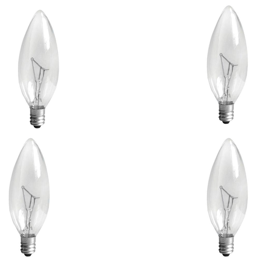 60 watt incandescent b10 candelabra base double life multi use decorative light