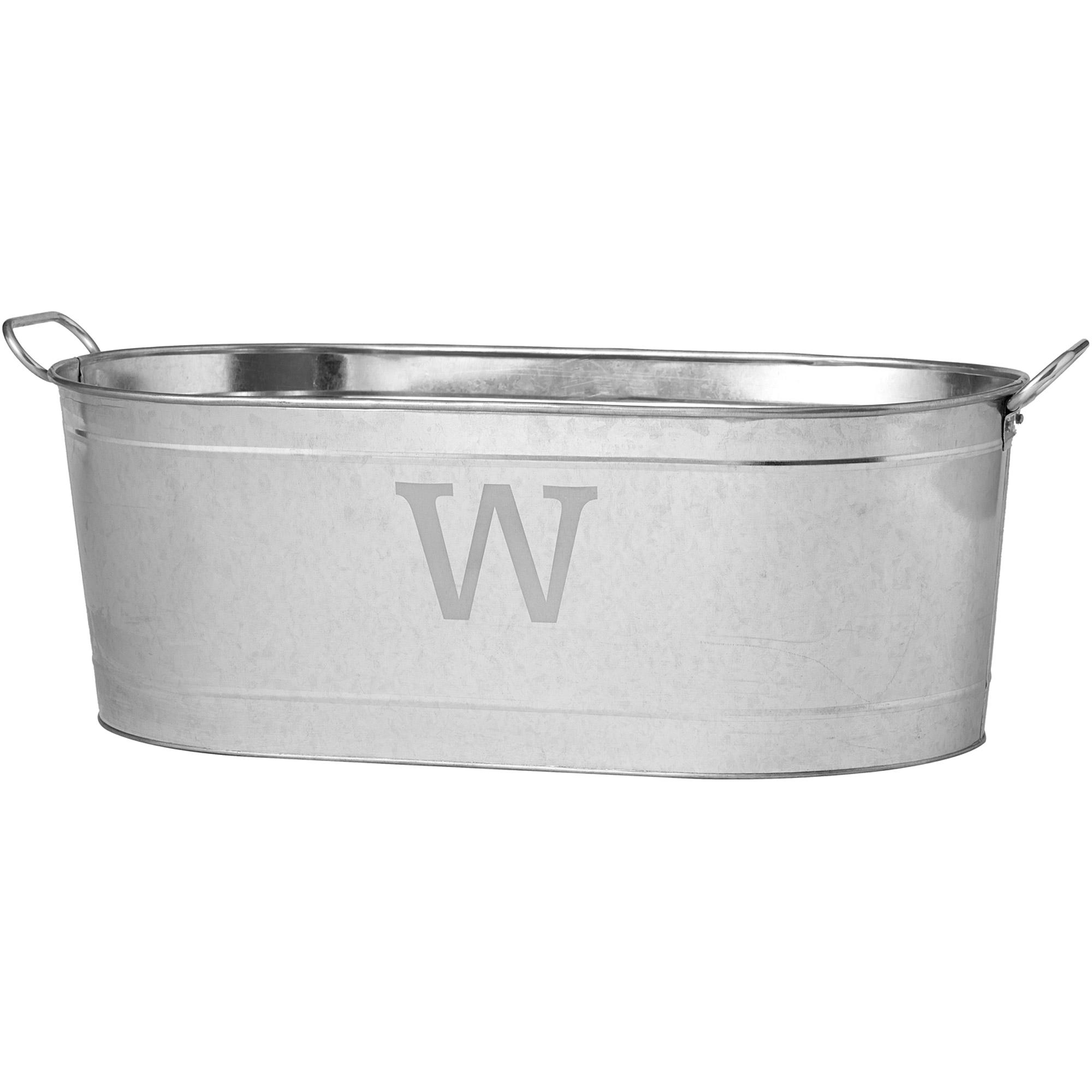 personalized galvanized beverage tub initial price