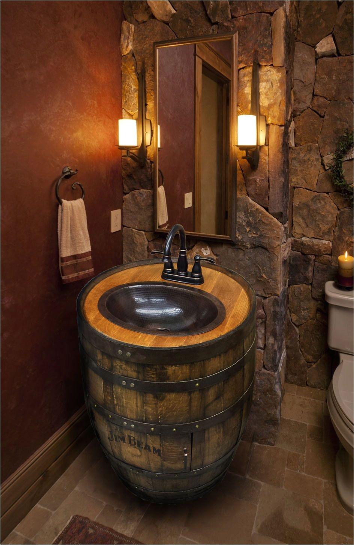 whiskey barrel sink hammered copper rustic by whiskeycartel wine barrel sink bathroom copper bathroom sinks