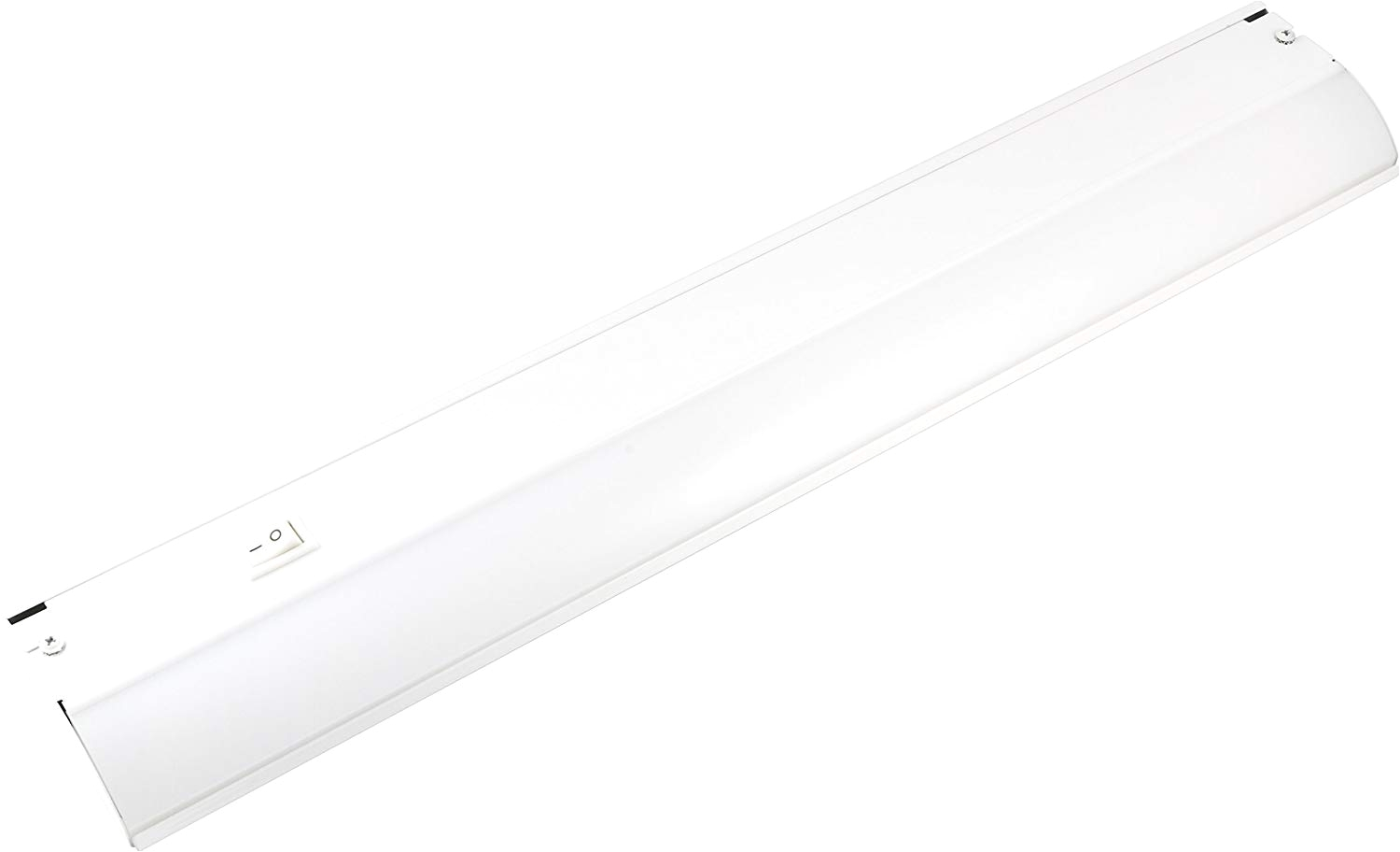 ge 36 inch led under cabinet light fixture 38981 direct wire in wall dimmer compatible 991 lumens 3000k soft white steel housing white finish
