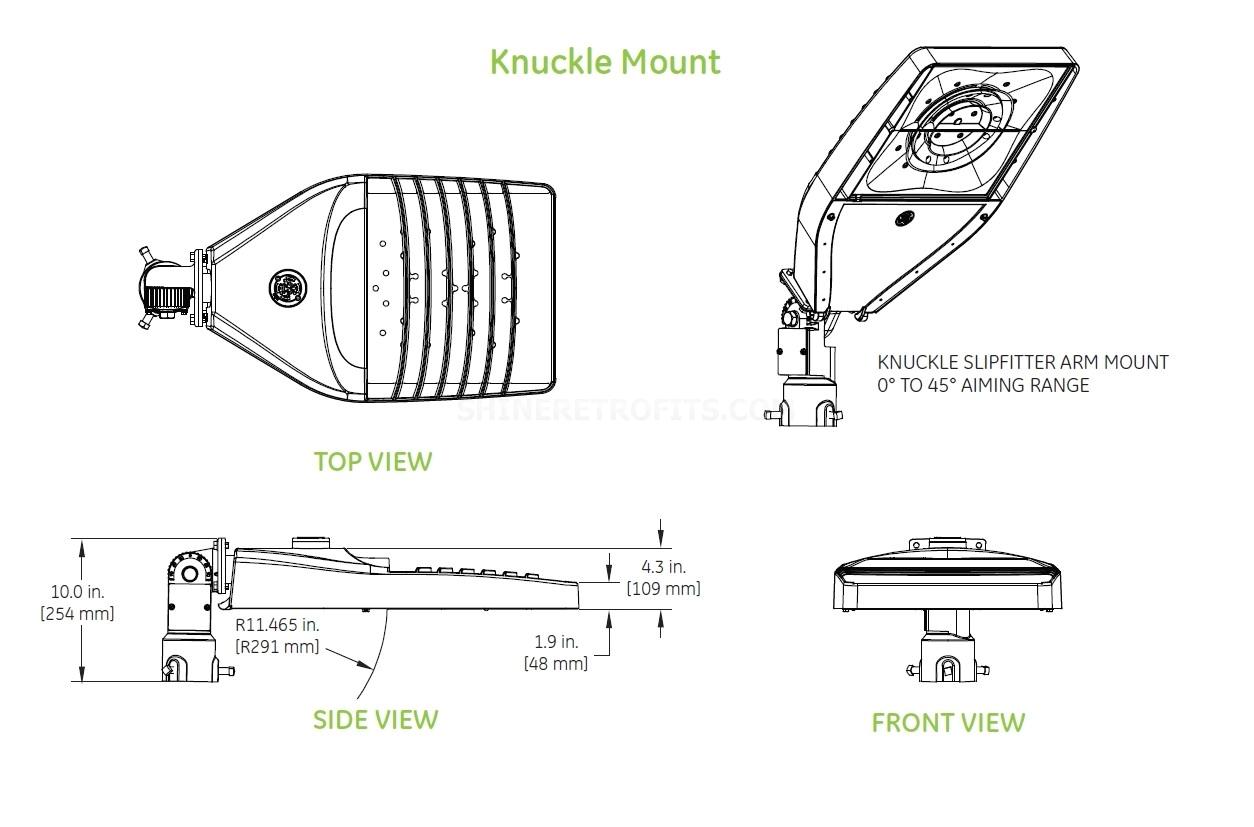 eals knuckle mount dimensions