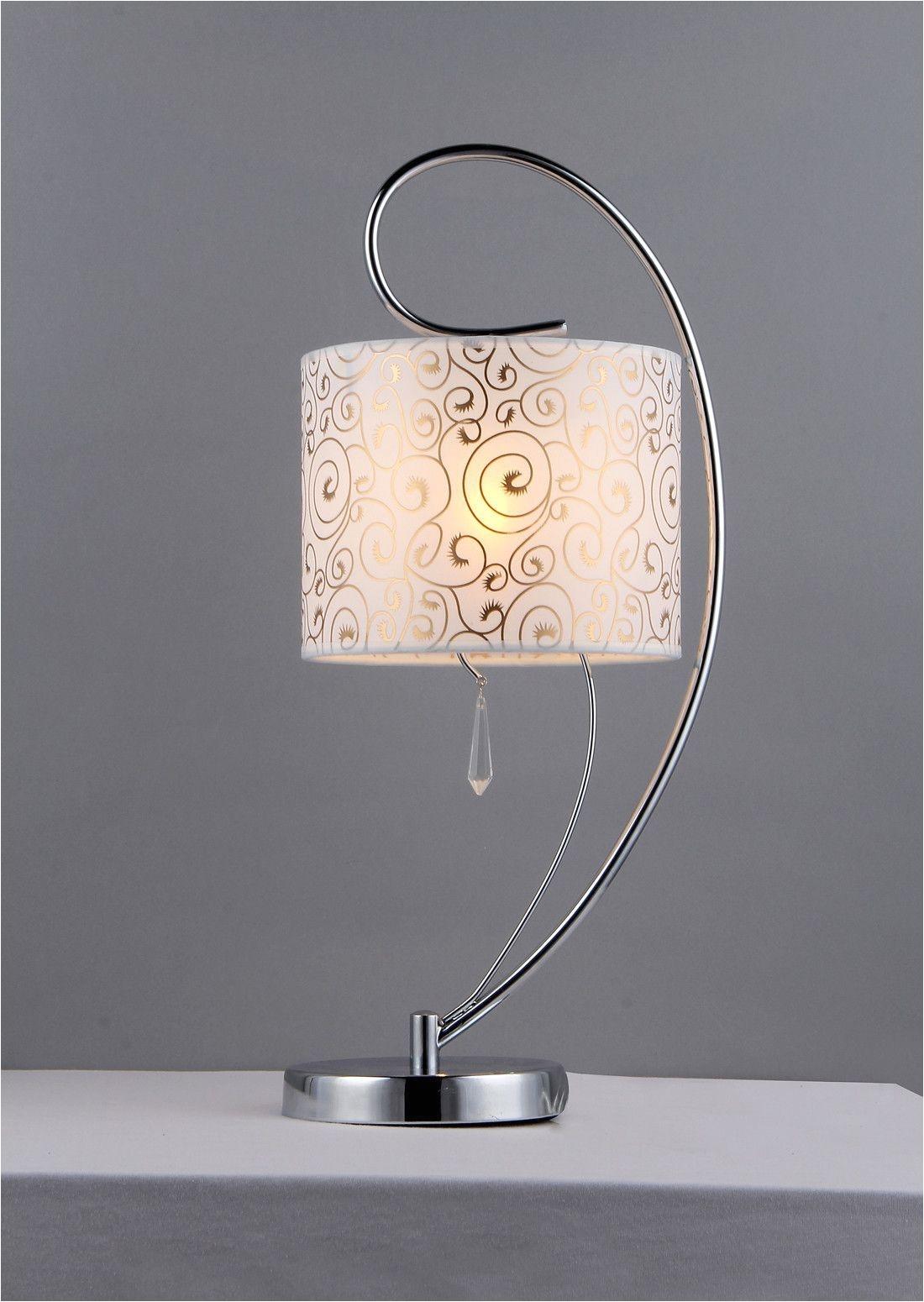 warehouse of tiffany tl1072 swirl crystal chrome table lamp