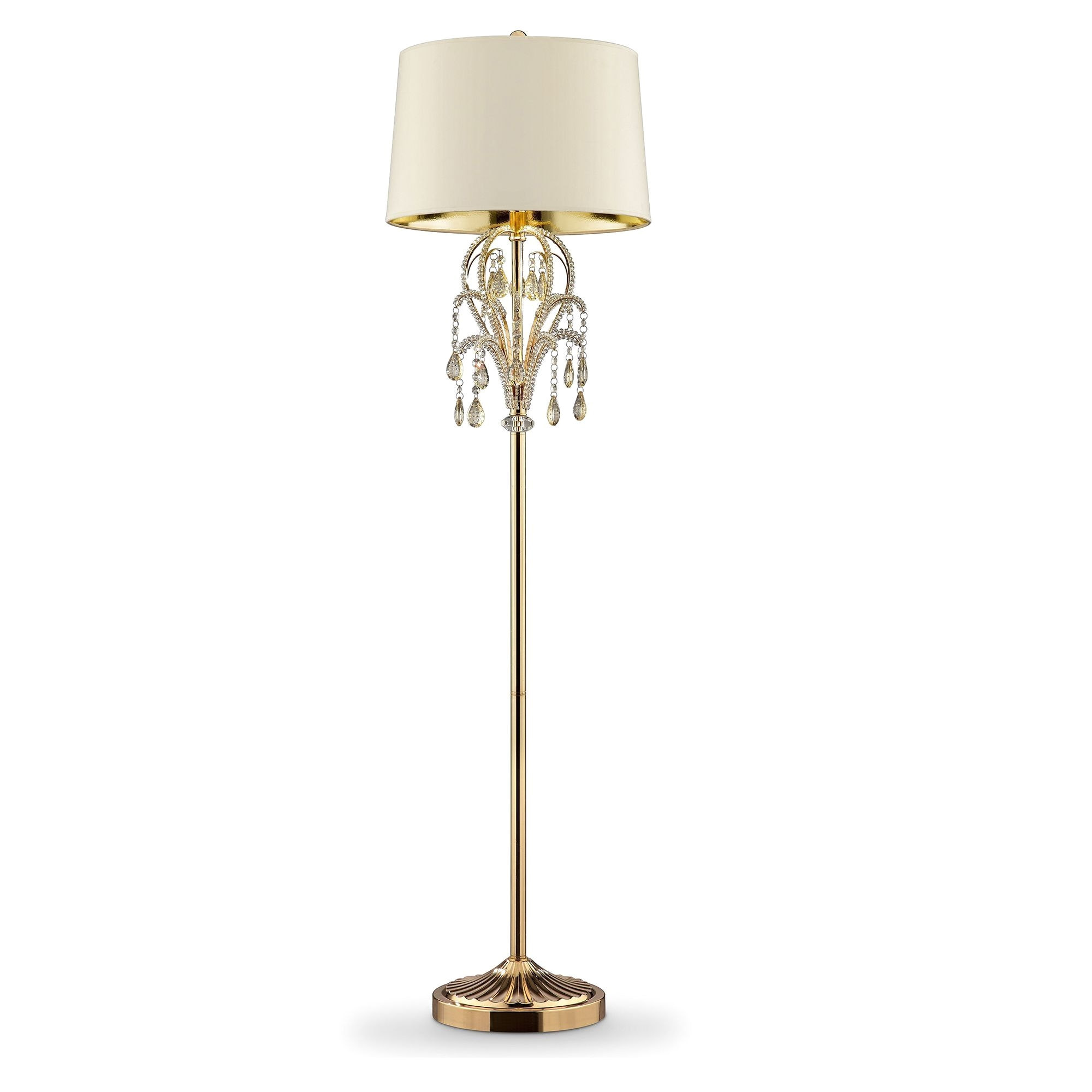ore 62 amoruccio crystal gold floor lamp glass