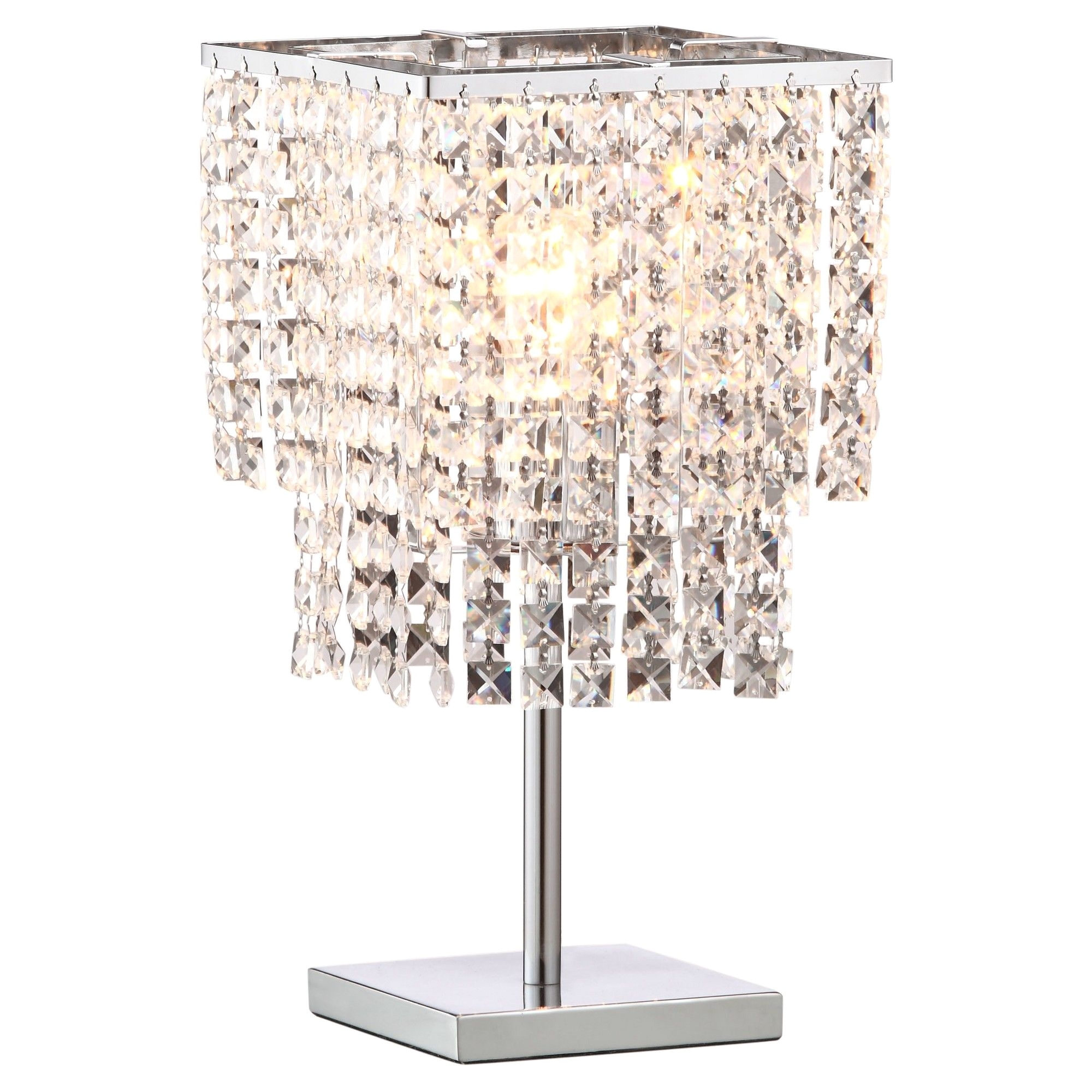 contemporary floating crystals 16 table lamp zm home
