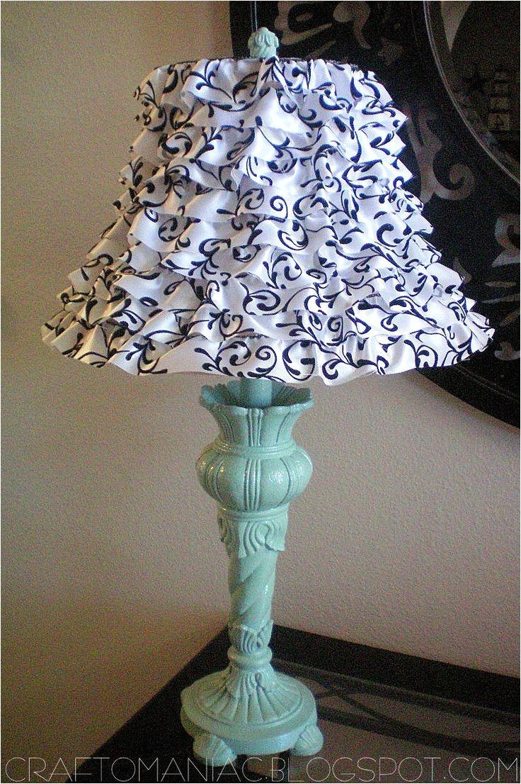 craft o maniac diy ruffled lamp using wire ribbon
