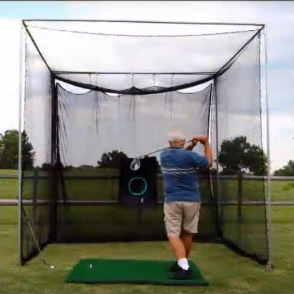 golf net indoor outdoor 10x10 driving practice netting diy frame corner cage kit cimarron