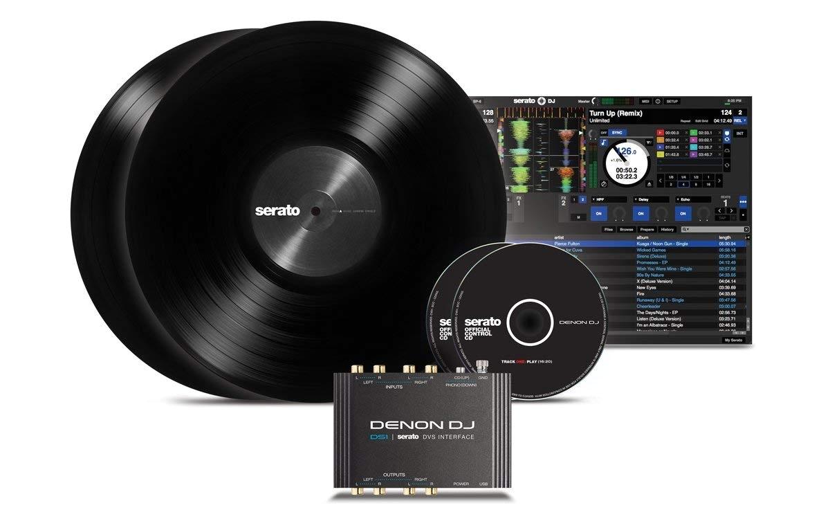 amazon com denon dj ds1 pocket sized digital vinyl audio interface with full serato dj pro serato dvs download 2 channel 24 bit 96khz musical