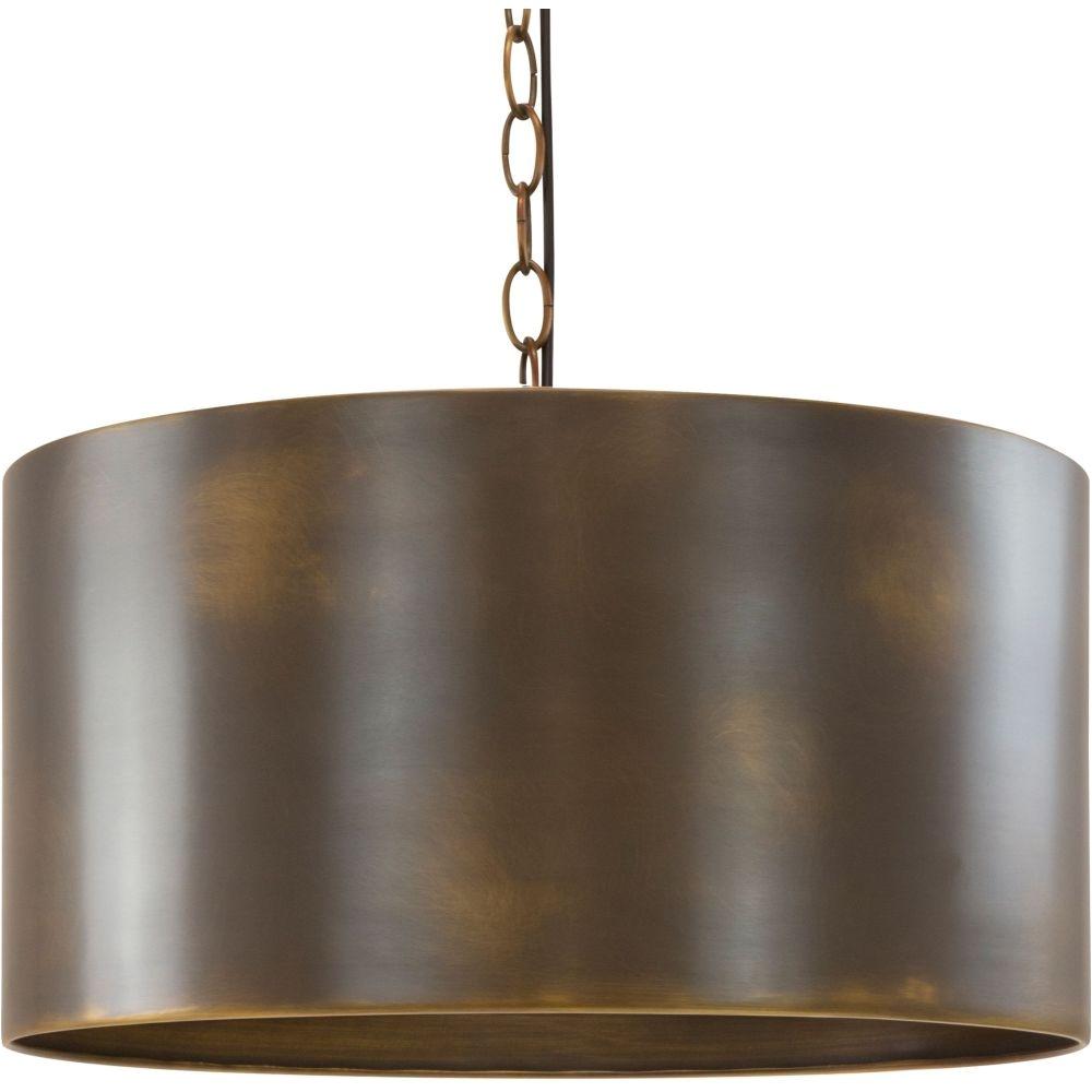 casper 3 light pendant with chain antique brass