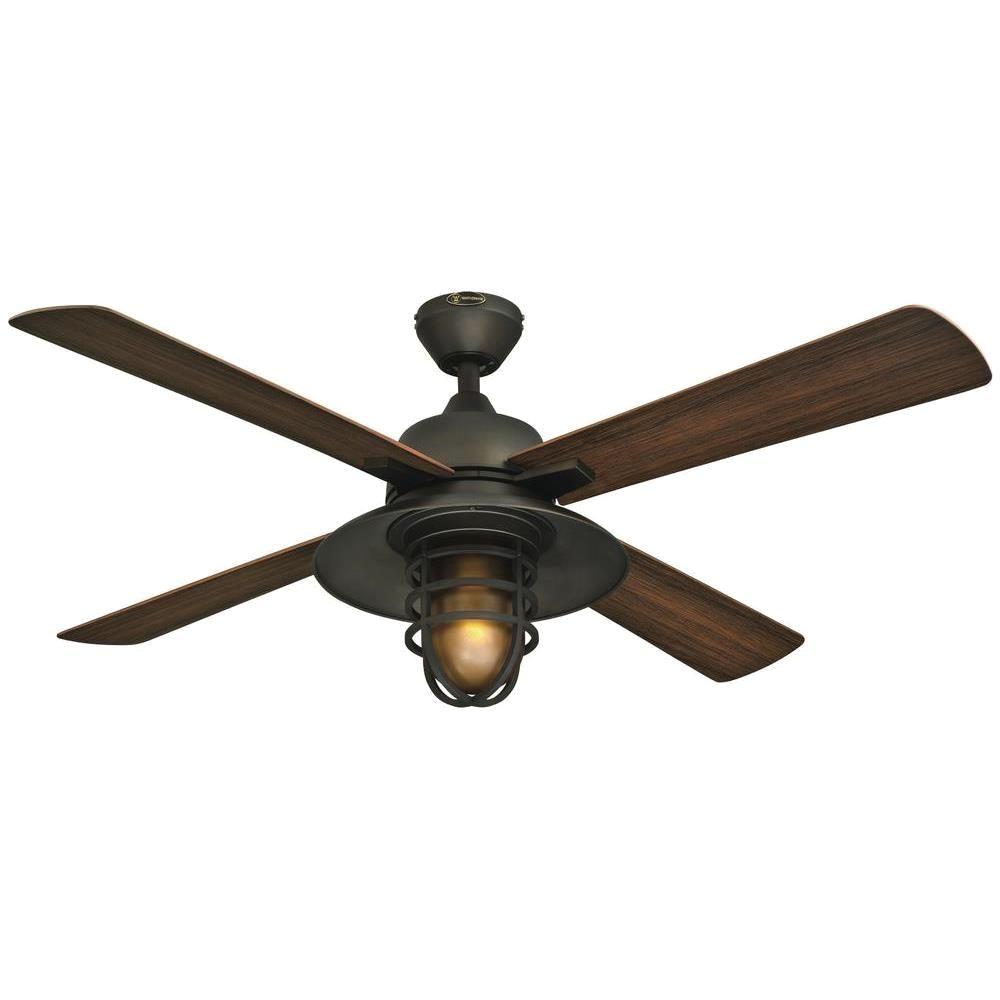 Harbor Breeze Light Bulbs Westinghouse Great Falls 52 In Indoor Outdoor Oil Rubbed Bronze