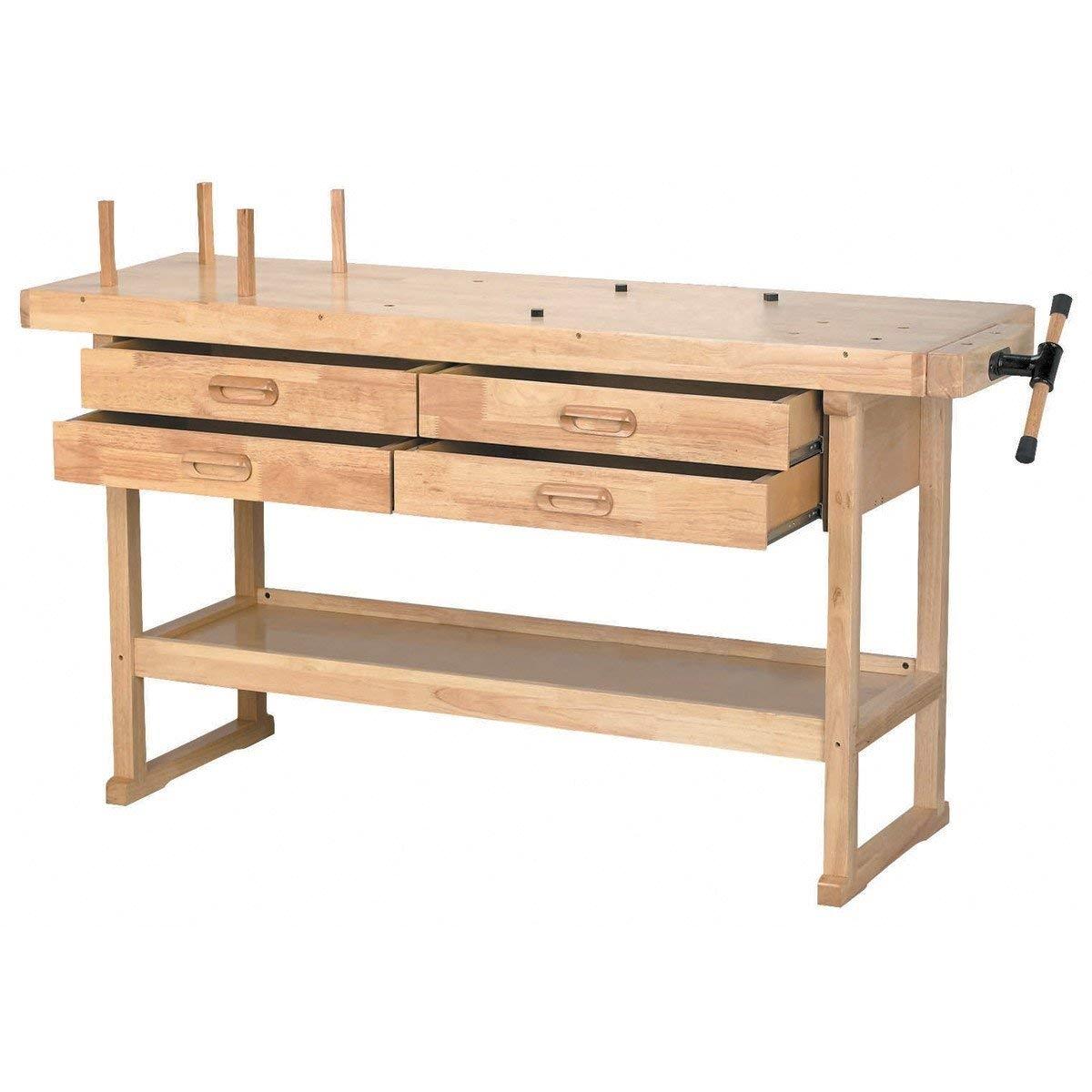 windsor design workbench with 4 drawers 60 hardwood work bench amazon com
