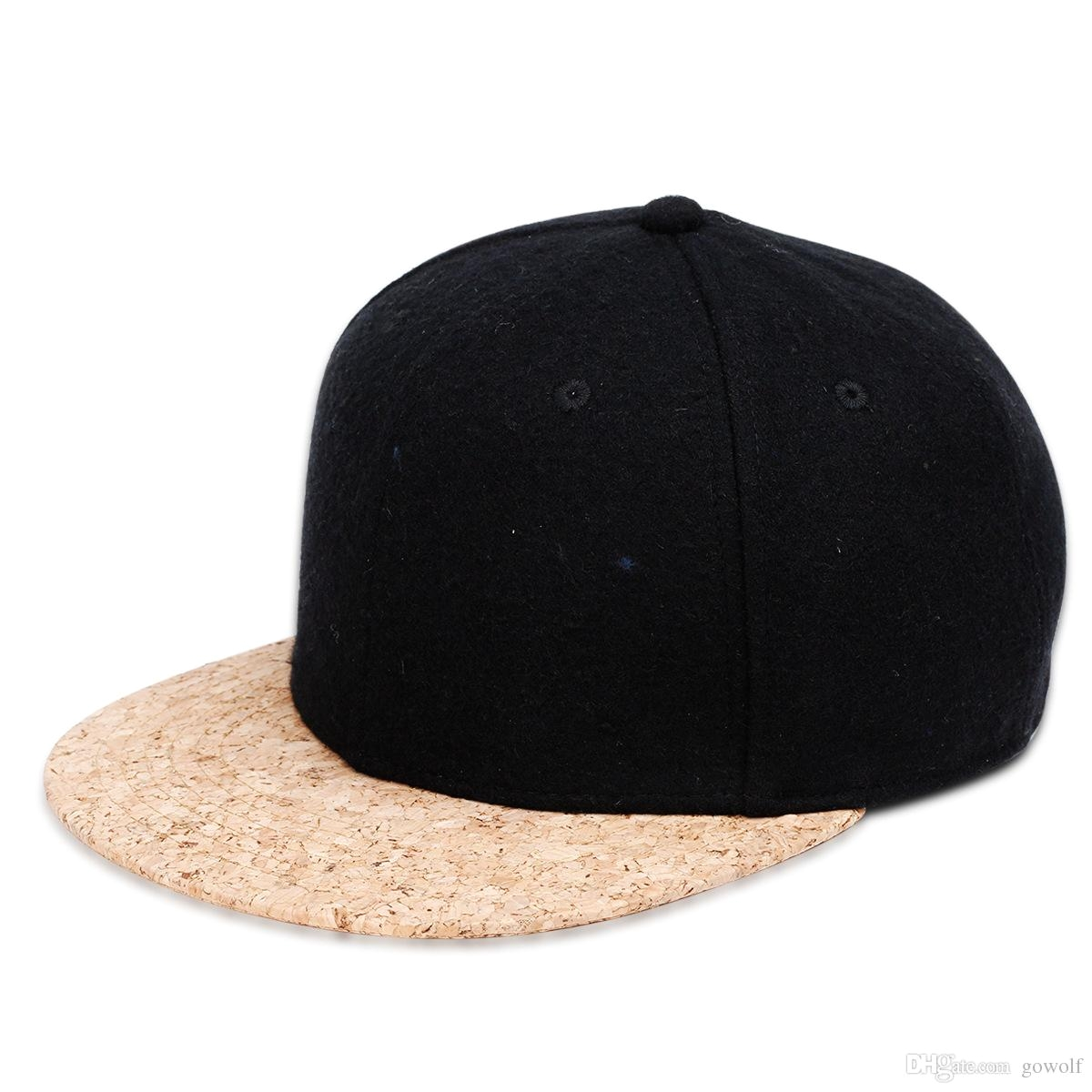 new arrival cork brim baseball cap snapback hat men women handsome wool suiting light board adjustable hip hop hat cool leisure cap cork snapback snapback