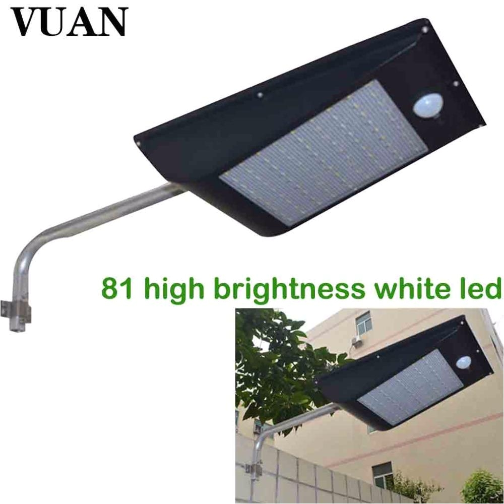 High Lumen solar Lights 2018 High Quality Power Outdoor Ip65 1000 Lumen 81 Led Waterproof