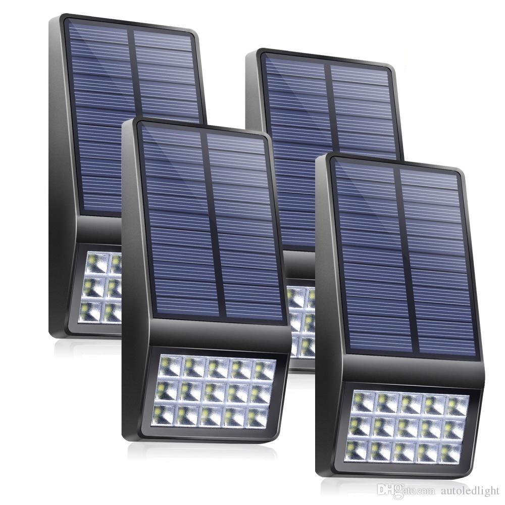 2018 led solar light high sensivtive microwave radar motion sensor garden solar lamp fence street pathway security outdoor lighting from autoledlight
