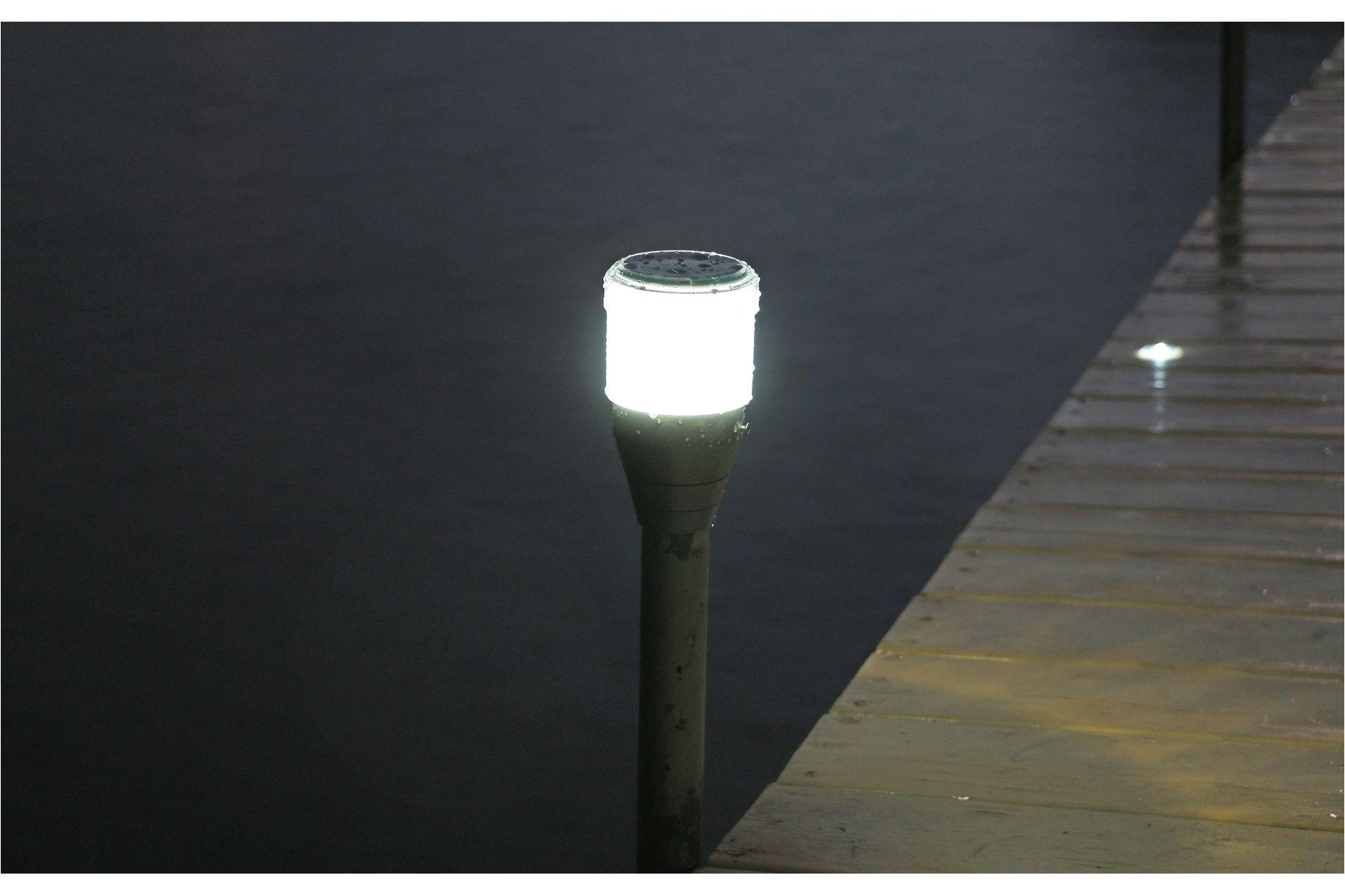 2pk solar dock post lights