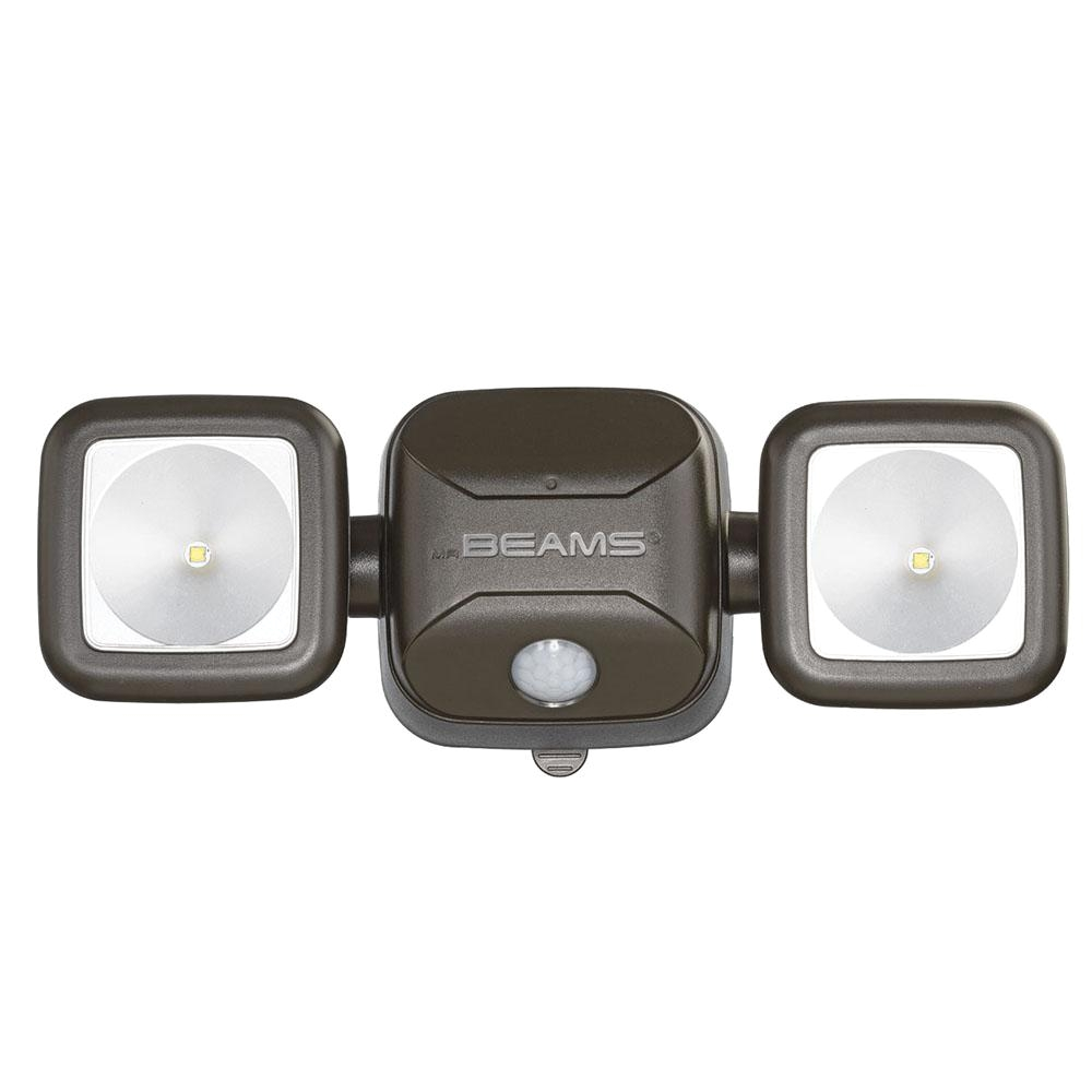 wireless 140 degree bronze motion activated outdoor integrated led security flood light