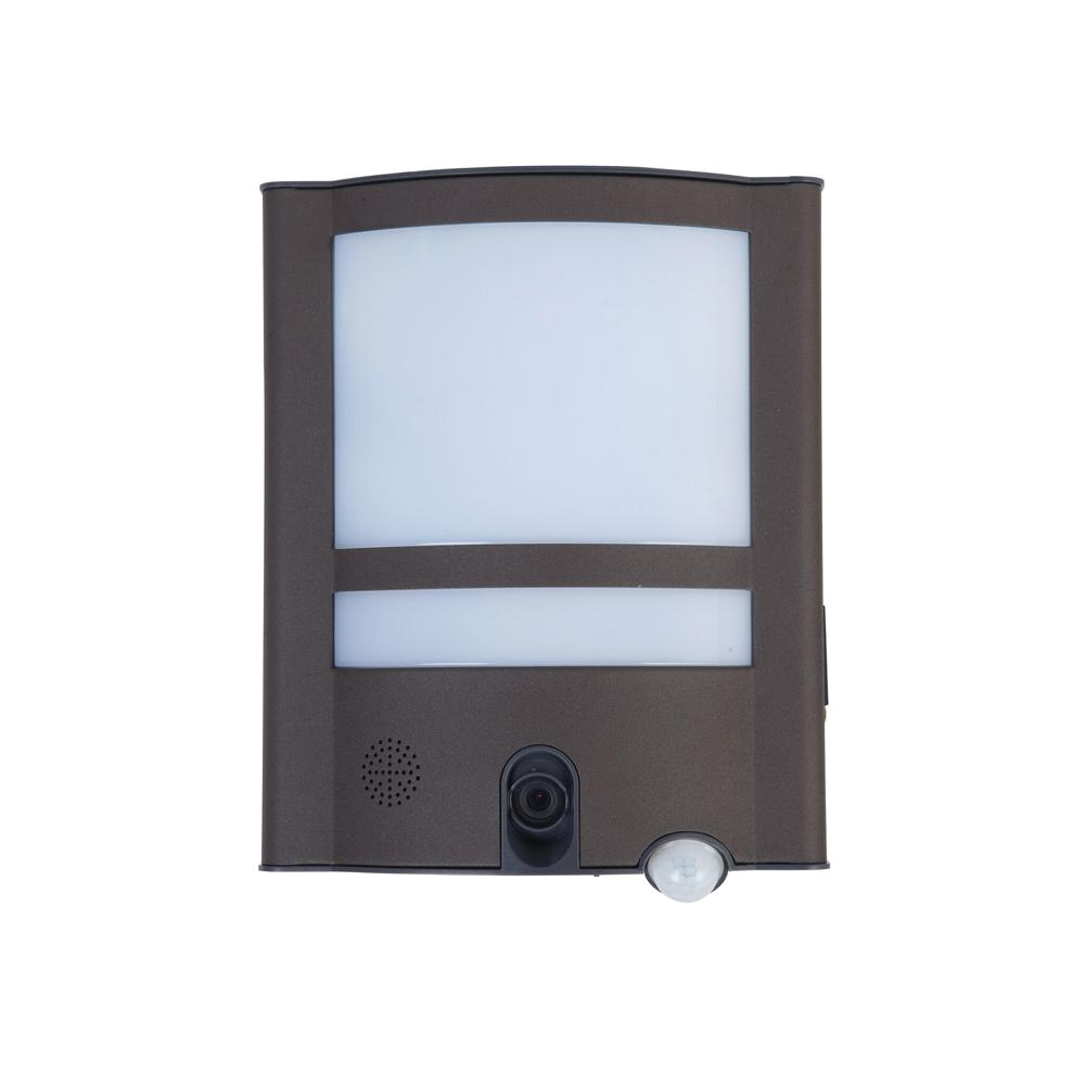lutec 120 degree 1 head gray motion activated outdoor integrated led flood light
