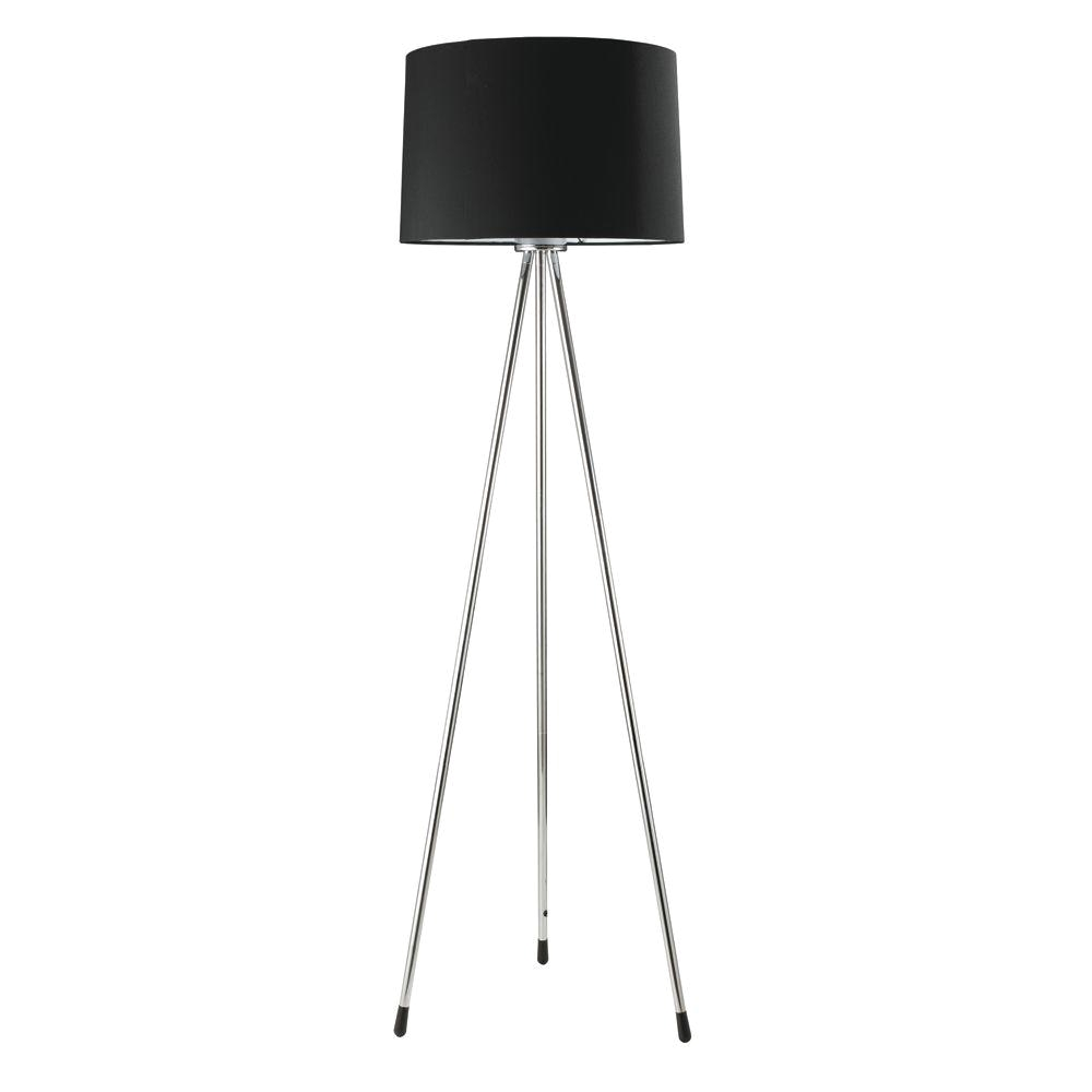 3 legged black floor lamp