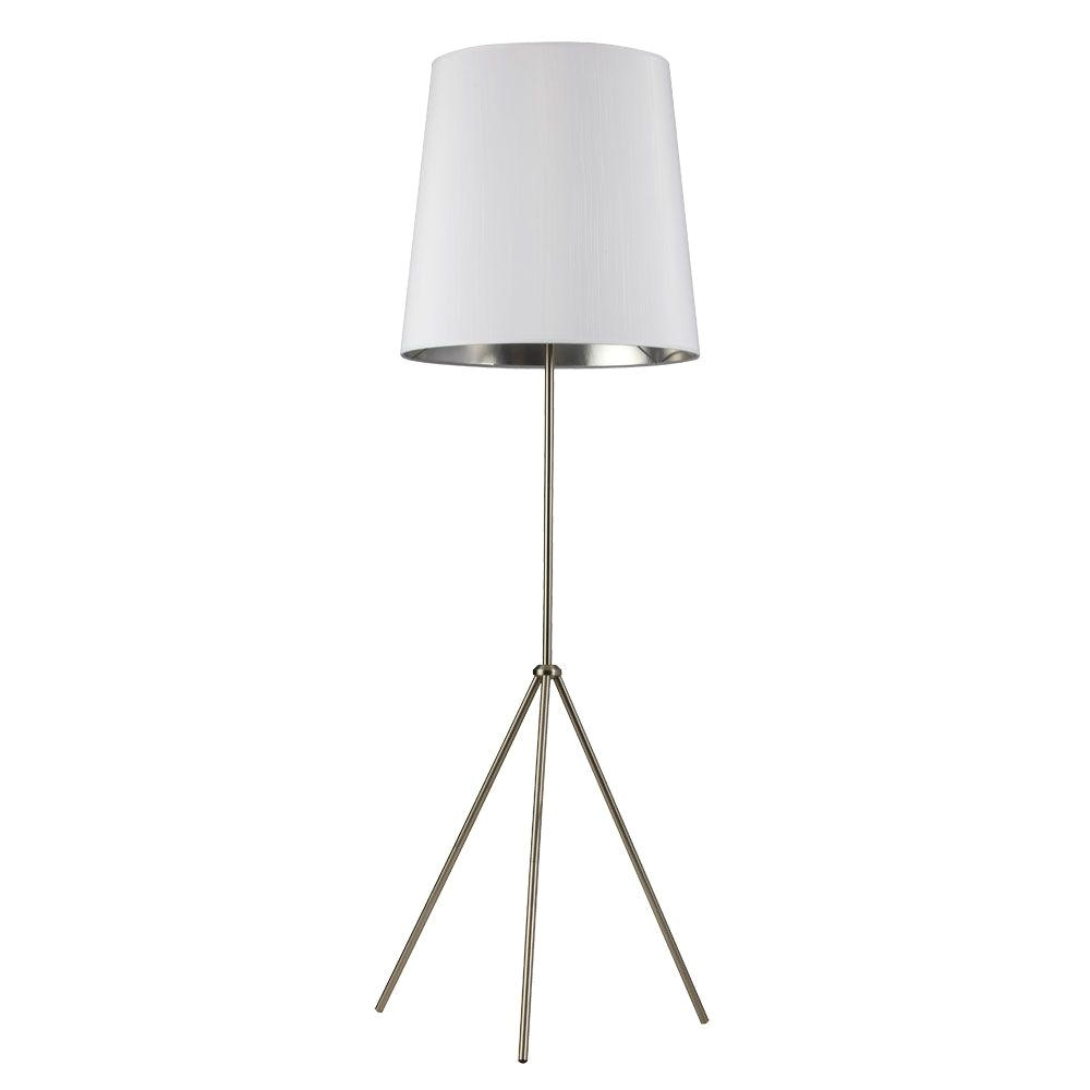 Home Depot Standing Lamps Radionic Hi Tech Odum 1 Light 66 In Satin Chrome Floor  Lamp