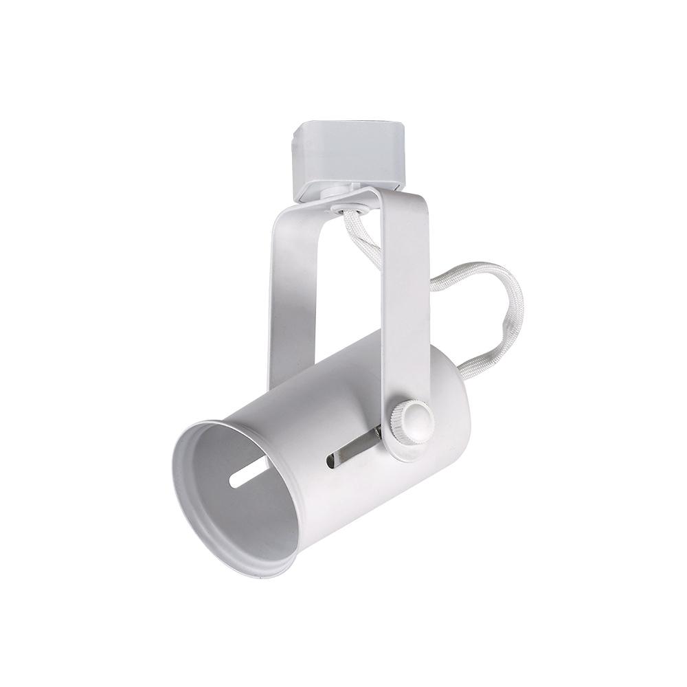 1 light white medium based universal bulb linear track lighting head