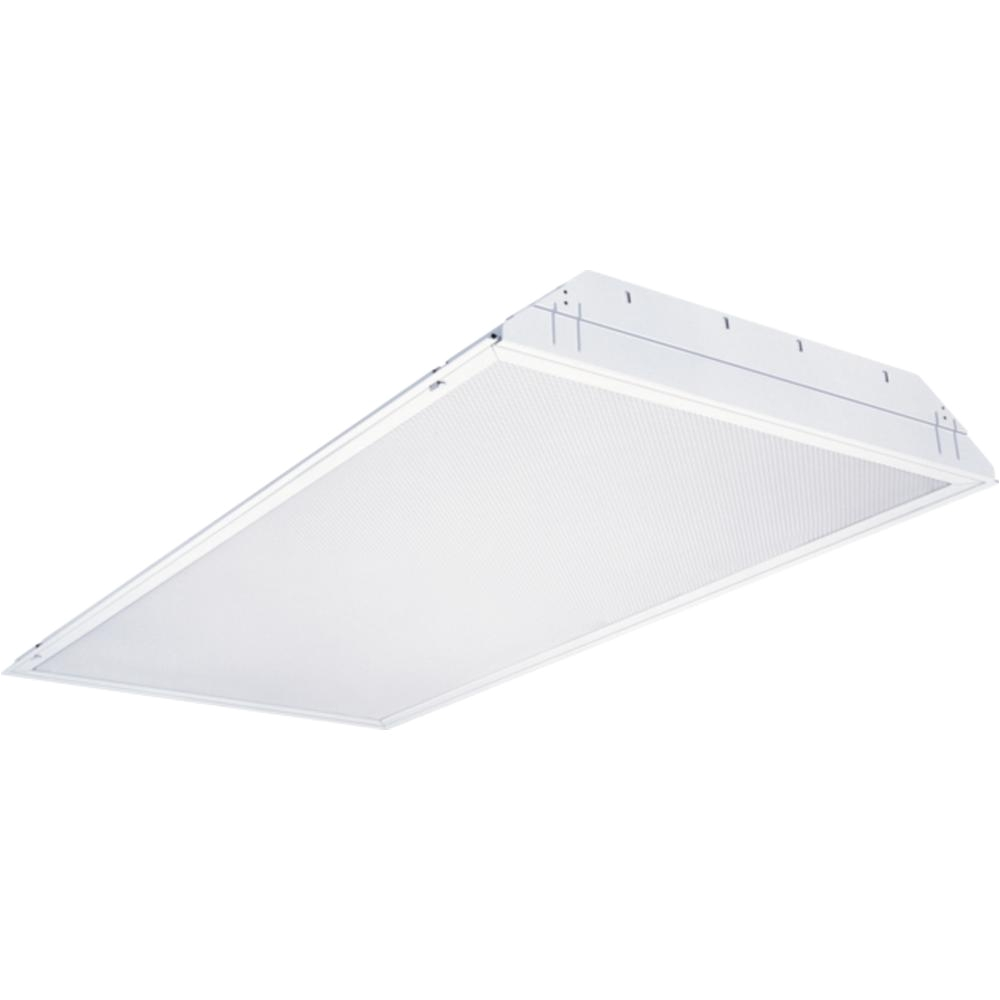 2 ft x 4 ft 4 light white multi volt fluorescent troffer