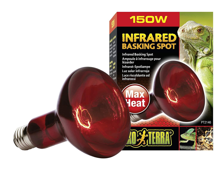 amazon com exo terra heat glo infrared spot lamp 150 watt 120 volt pet habitat heat lamps pet supplies