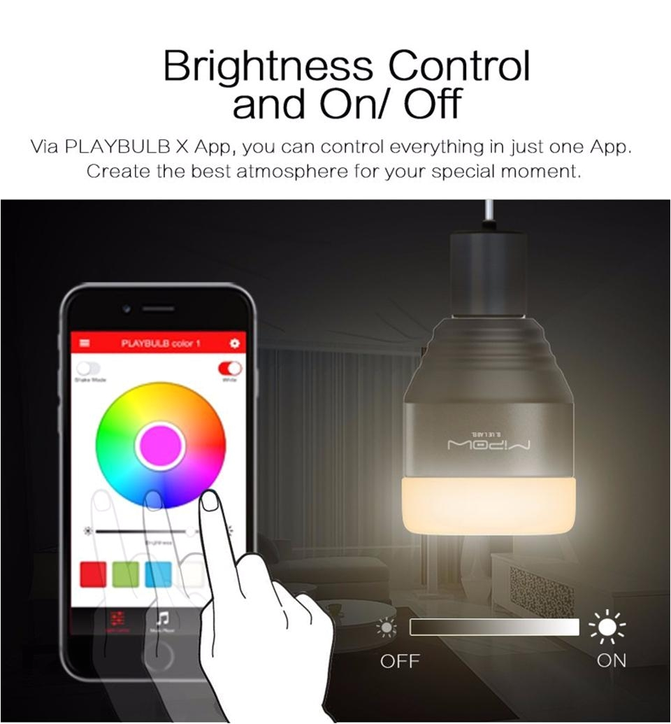 mipow bluetooth led light btl201 smart remote control light app smart phone control dimmable color changing