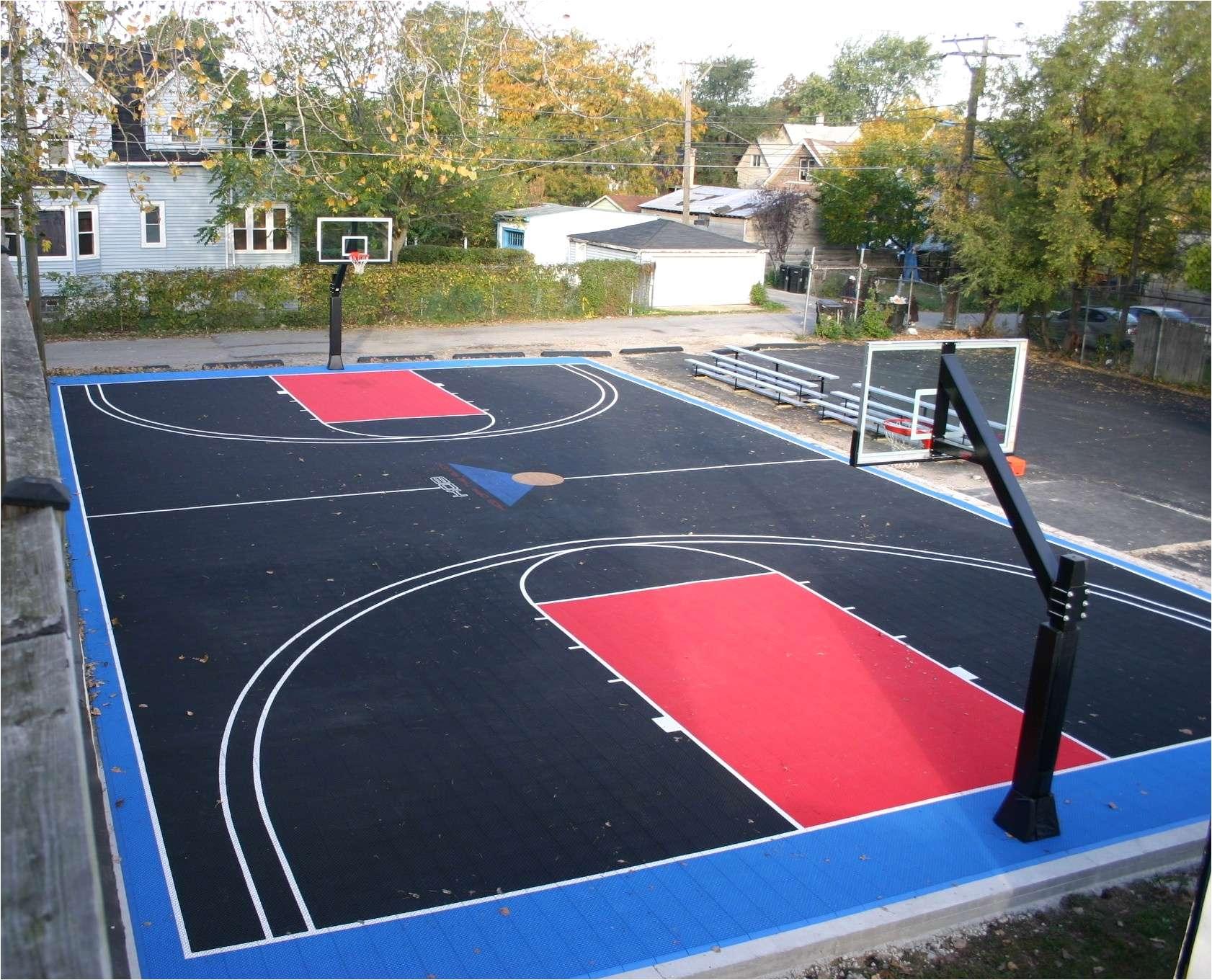 backyard basketball court paving inspirational how much does an indoor basketball court cost new basketball court