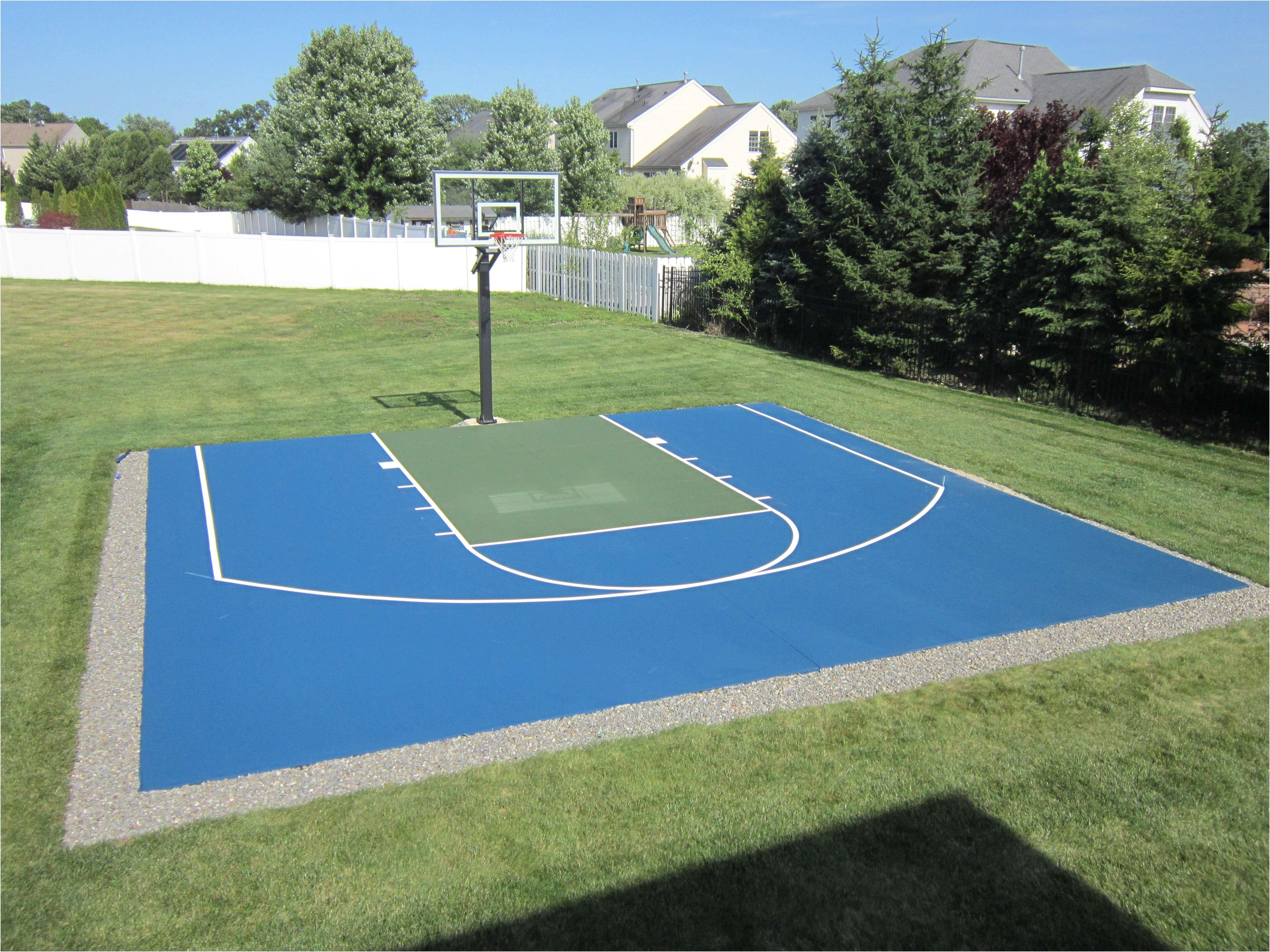 backyard basketball court paving inspirational cheap outdoor basketball court flooring lovely e side od a of
