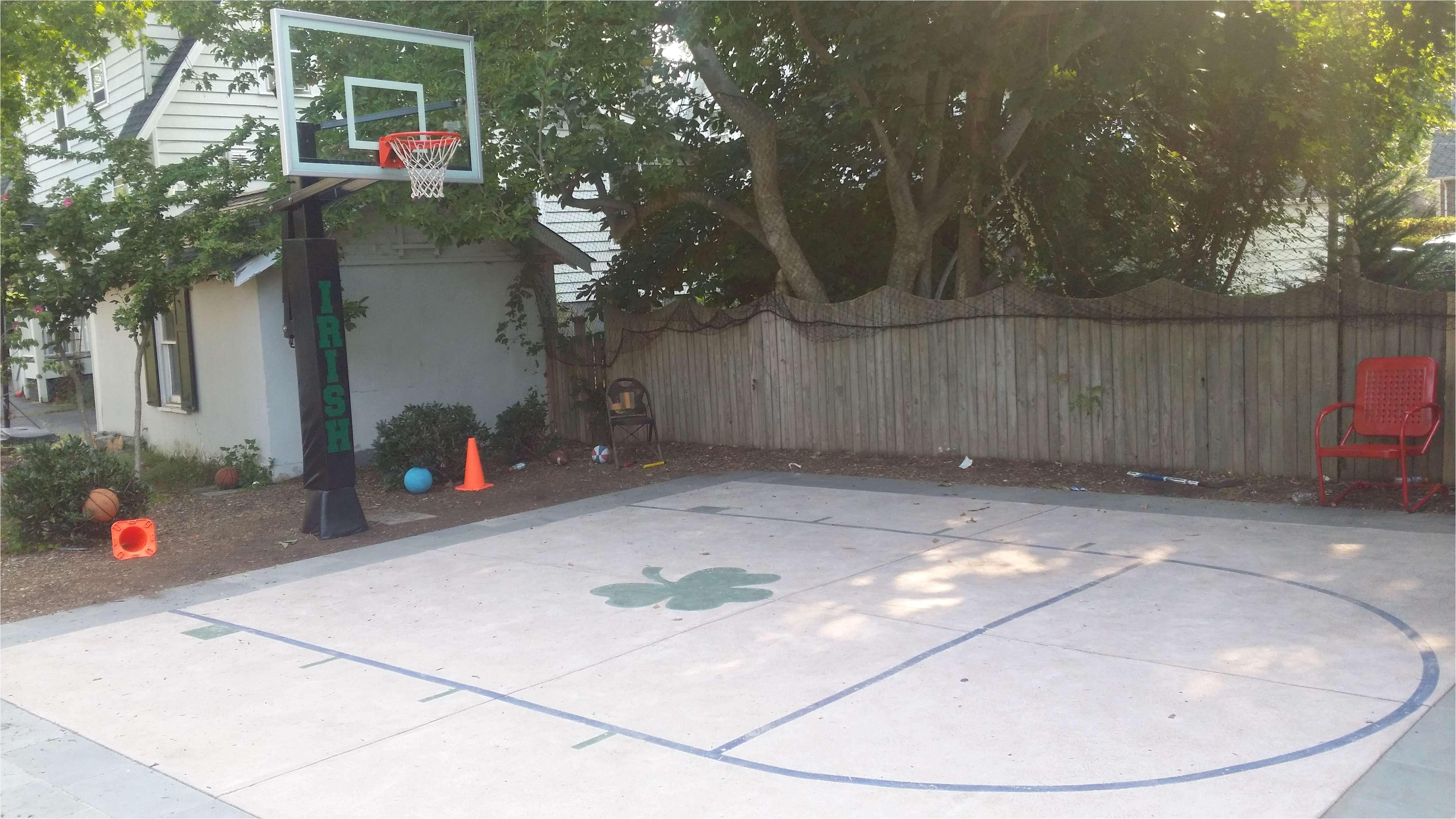 backyard basketball court service unique cheap outdoor basketball court flooring lovely e side od a of