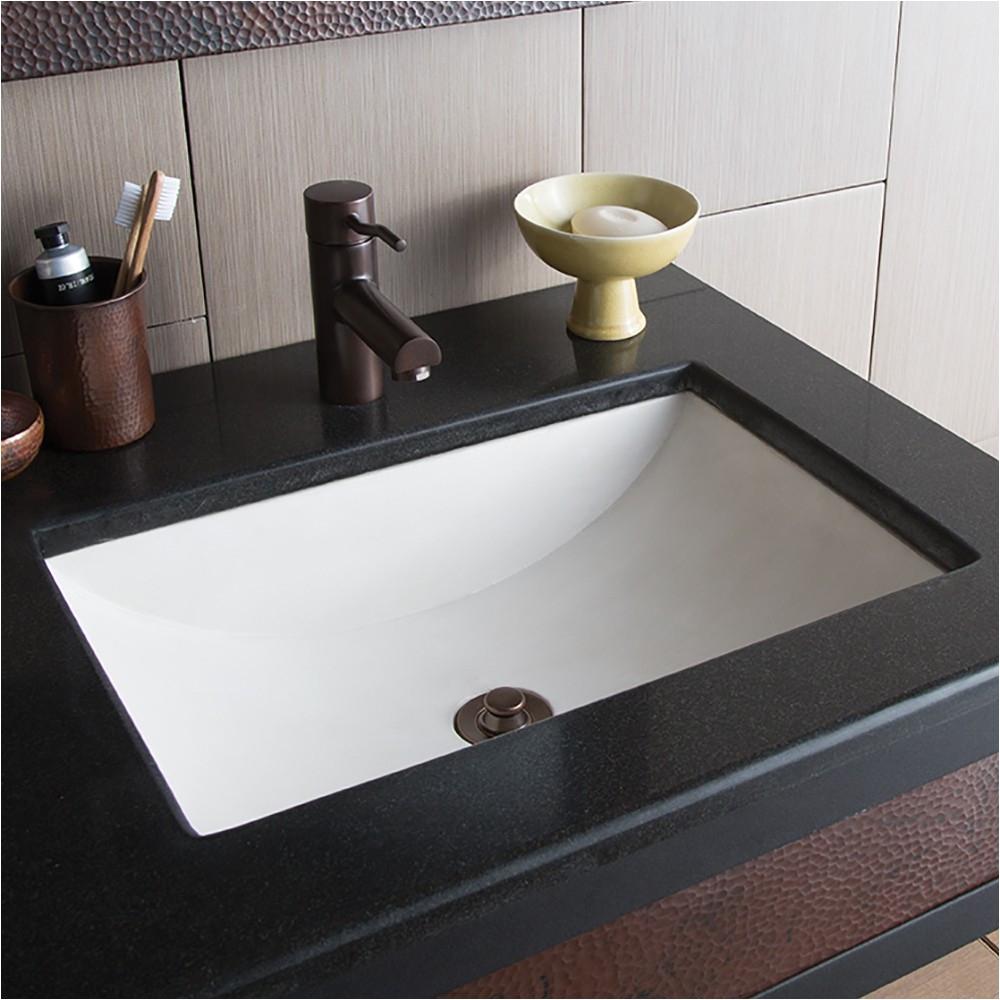 cabrillo 20 2 3 undermount rectangular concrete bathroom sink in pearl