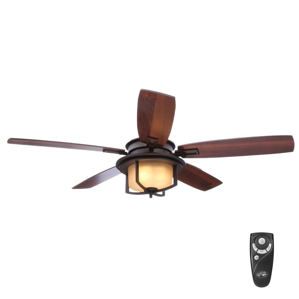 Hunter Fan Light Cover Hampton Bay Devereaux Ii 52 In Indoor Oil
