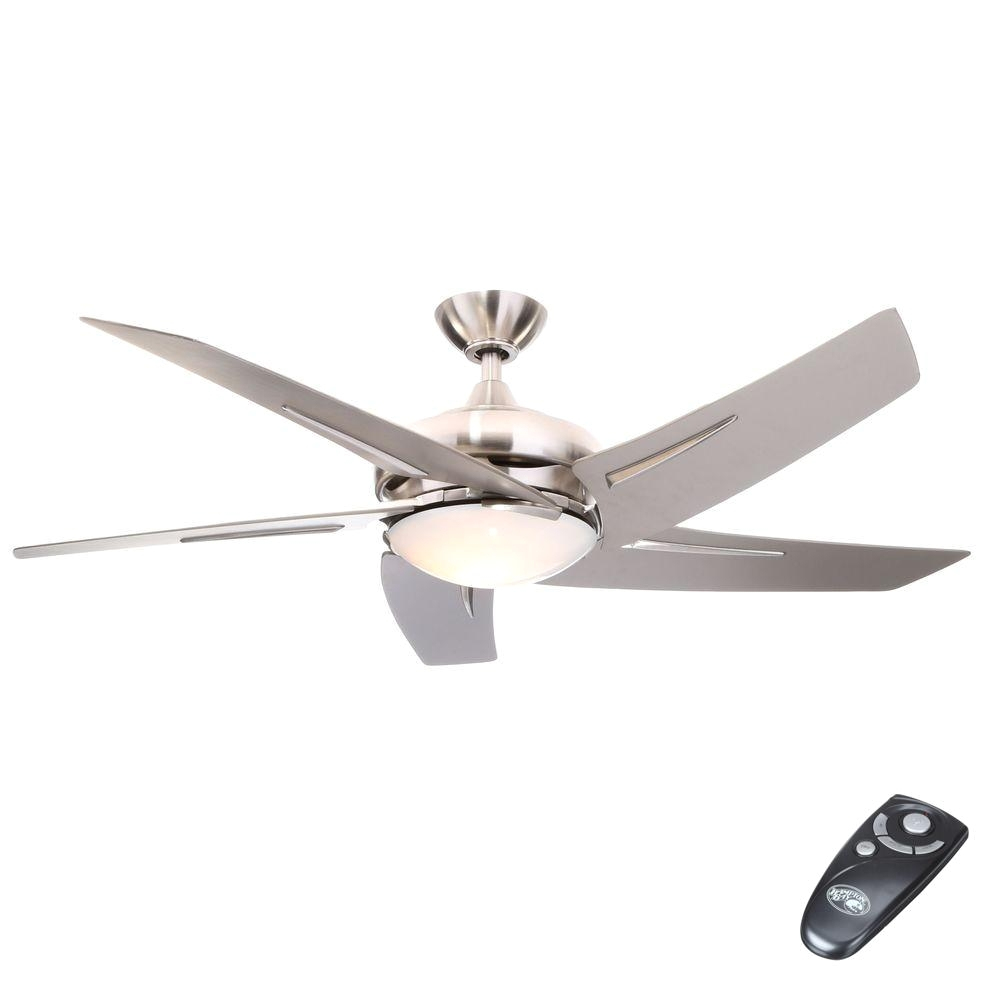 Hunter Fan Light Cover Hampton Bay Sidewinder 54 In Indoor Brushed Nickel Ceiling Fan with