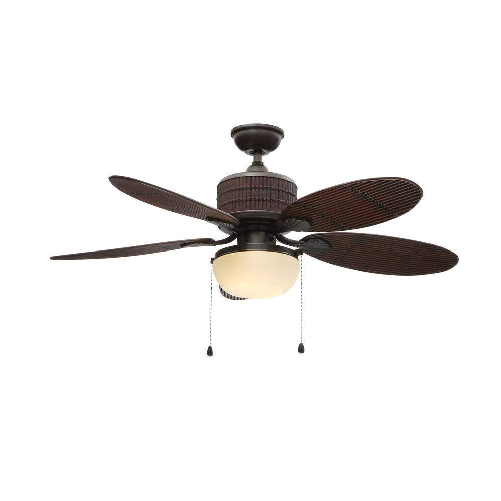 home decorators indoor outdoor tahiti breeze 52 inch ceiling fan natural iron amazon com